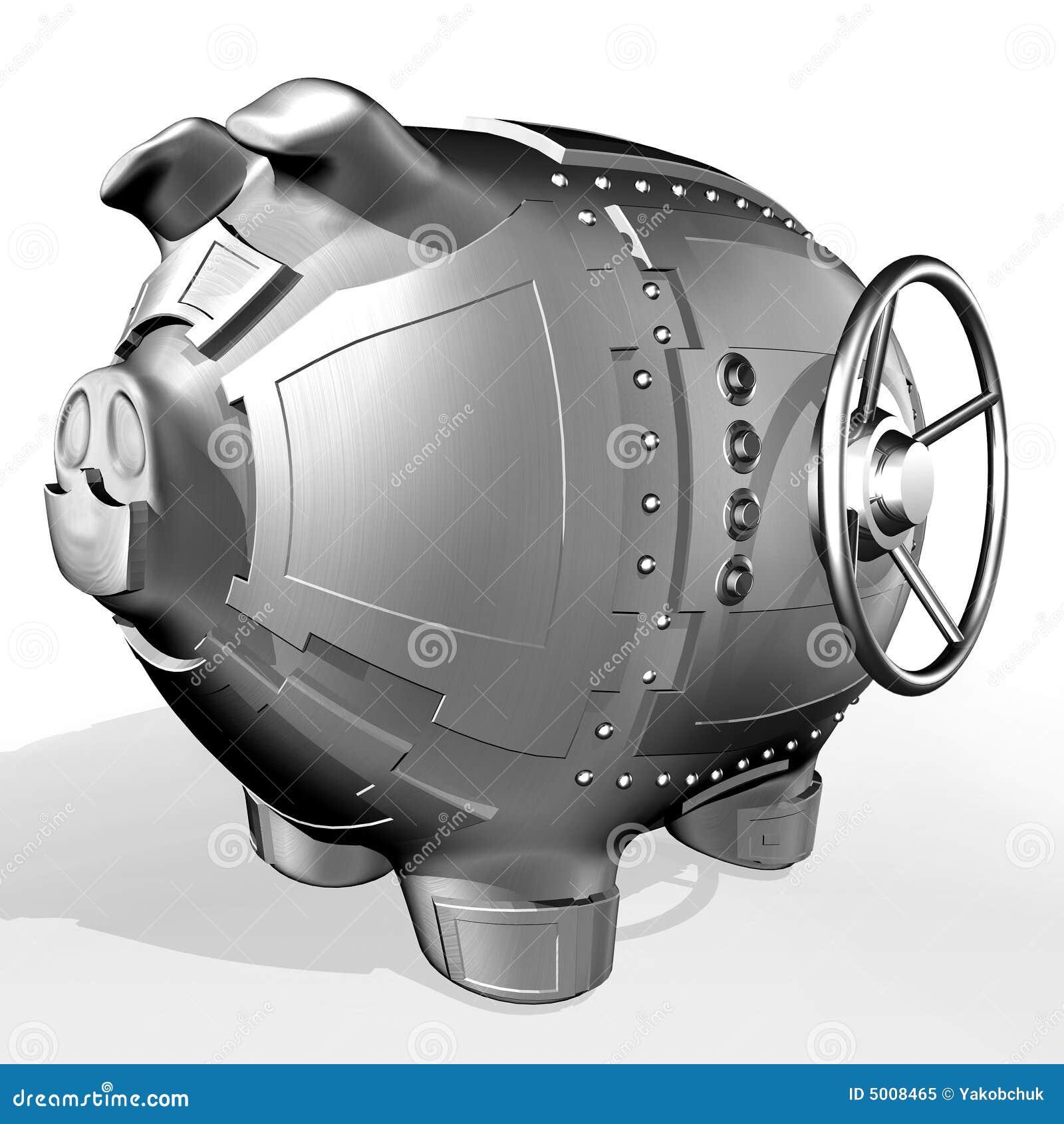 Het spaarvarken van het staal