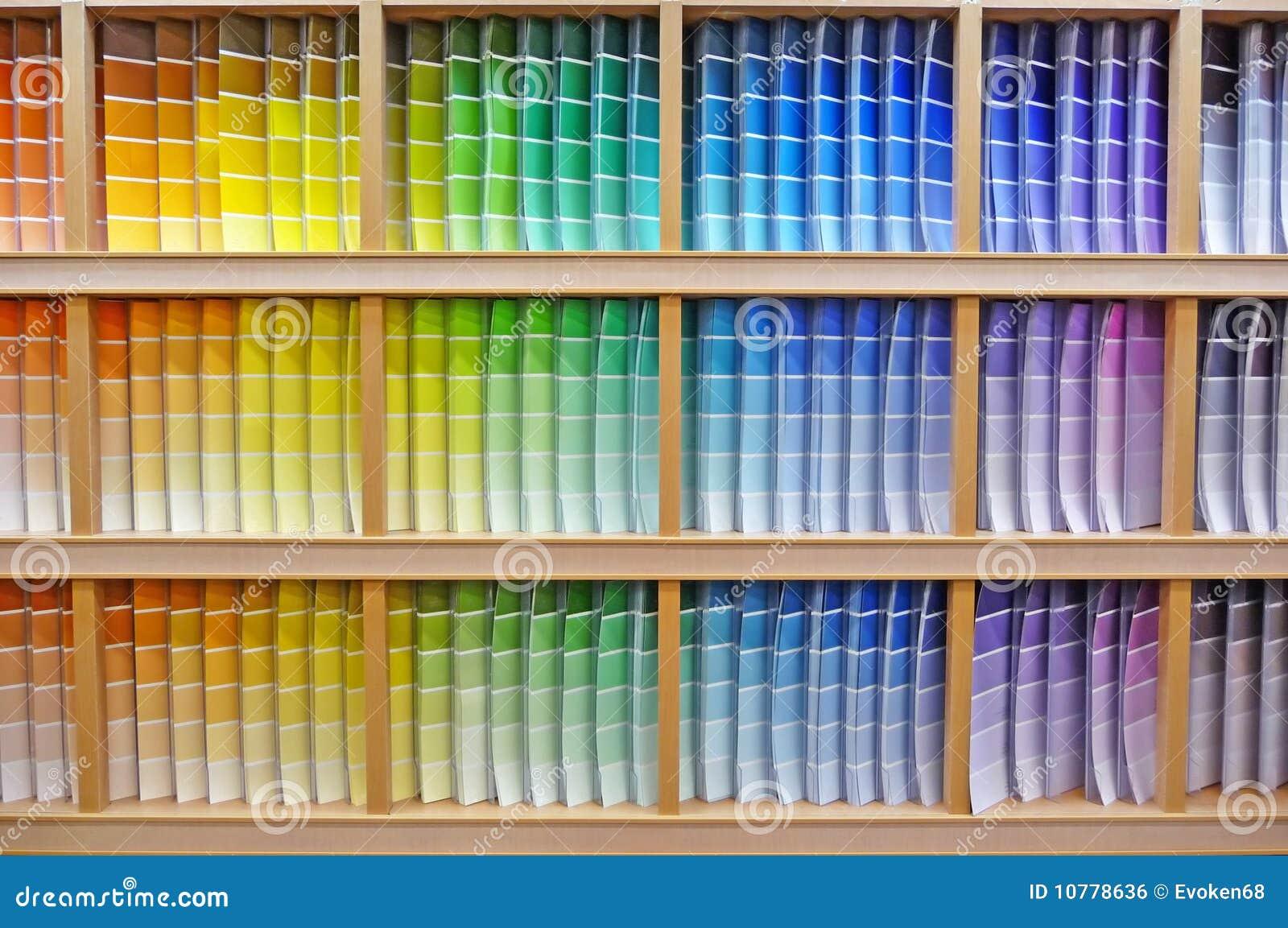 Het spectrum van de de spaanderkleur van de verf