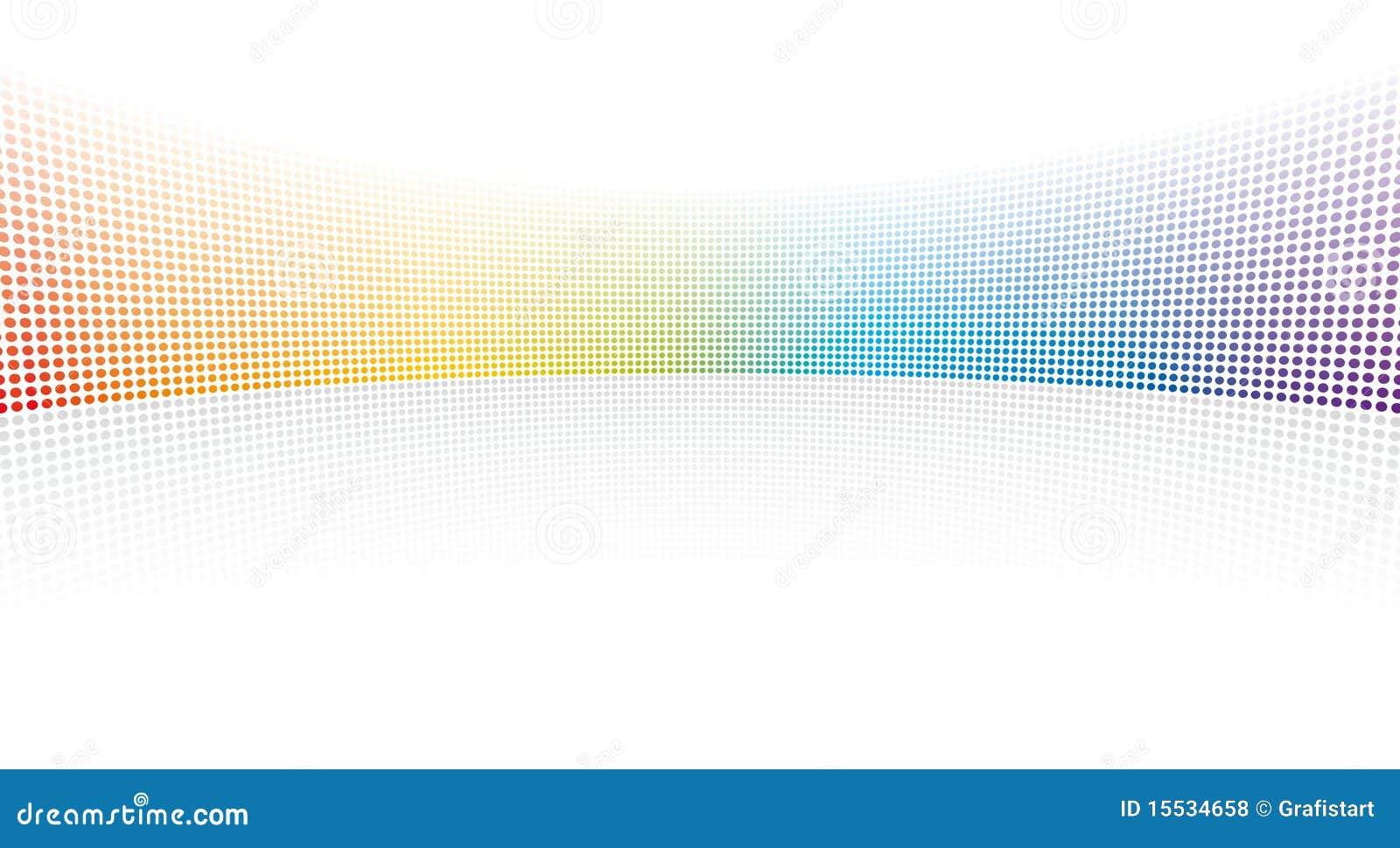 Het spectrumpunten van de kleur
