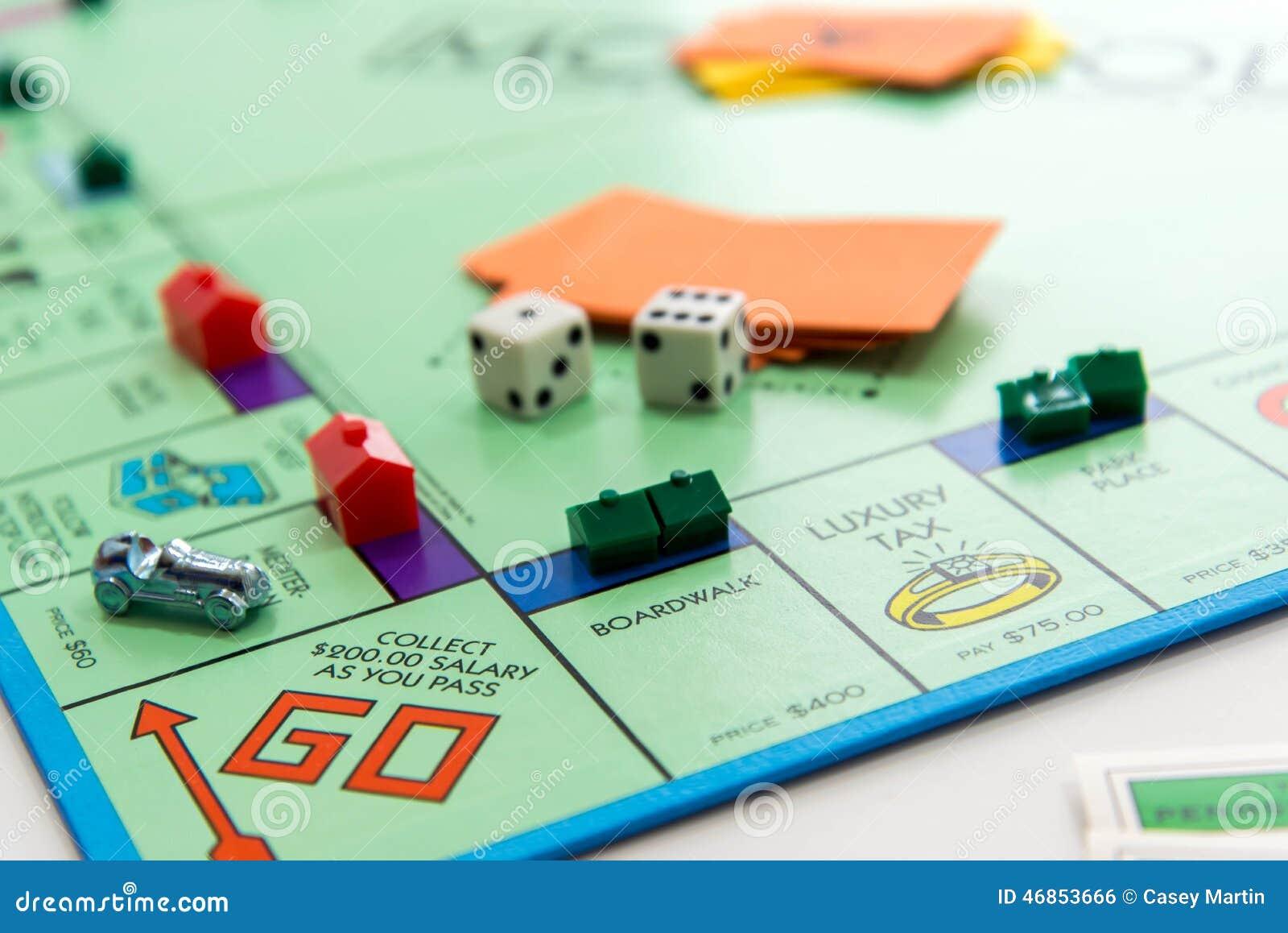 Het spel van de monopolieraad in spel