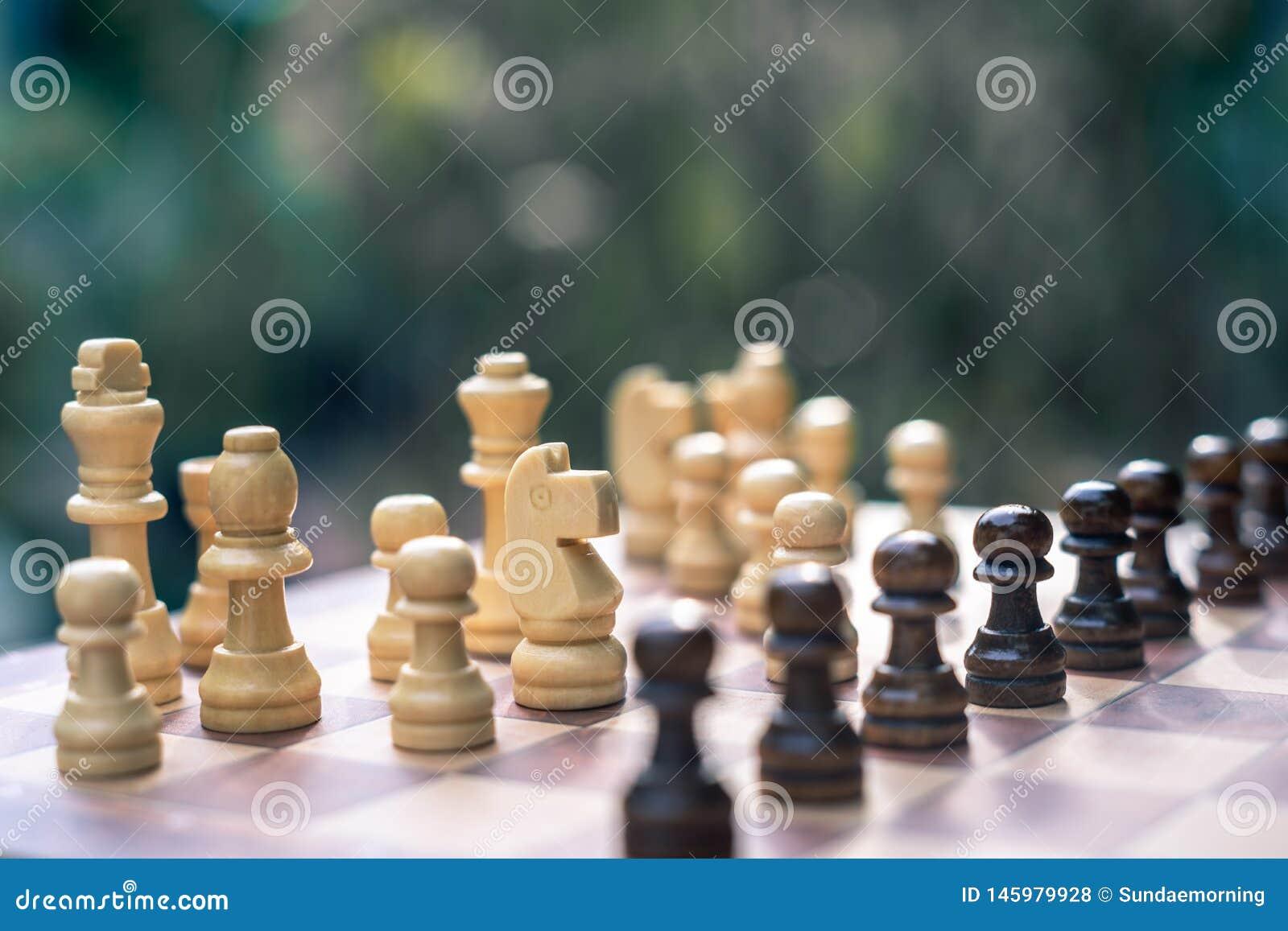 Het spel van de schaakraad, bedrijfs concurrerend concept
