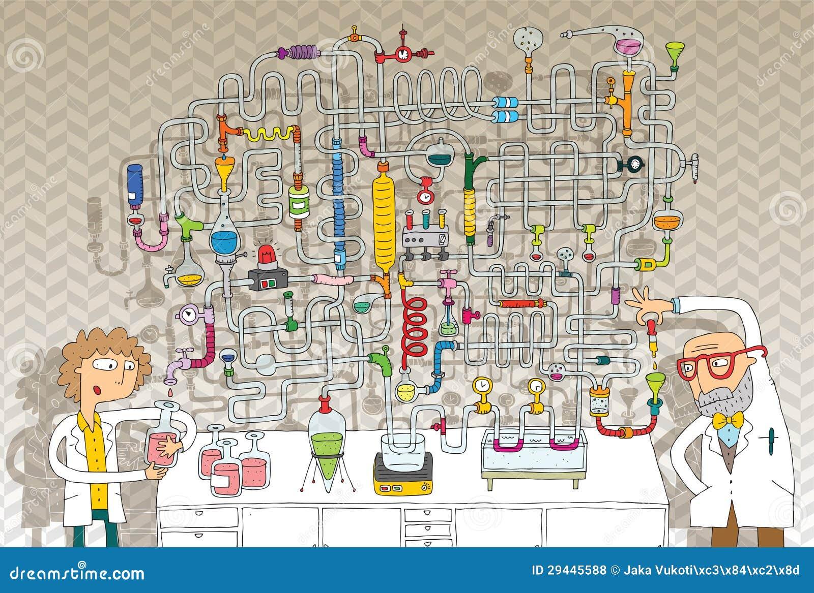 Het Spel van het Labyrint van het laboratorium