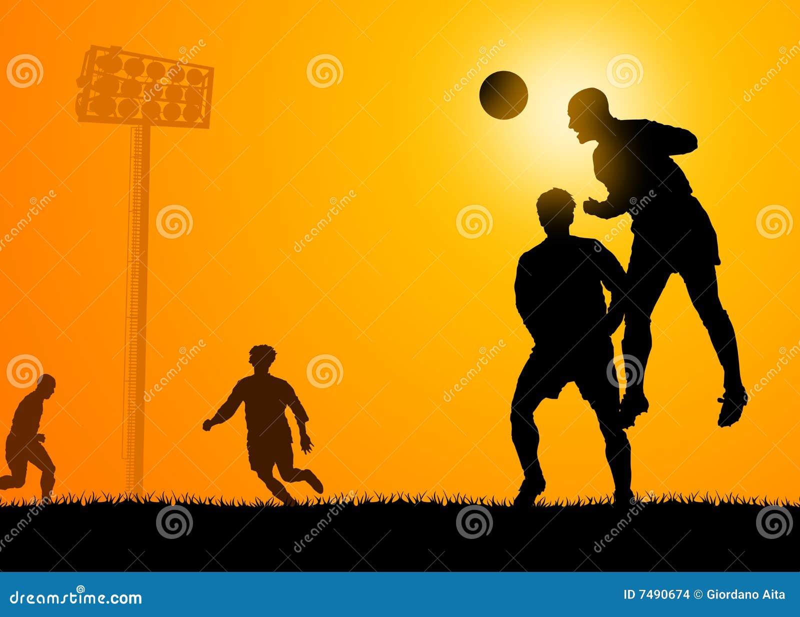 Het spel van het voetbal