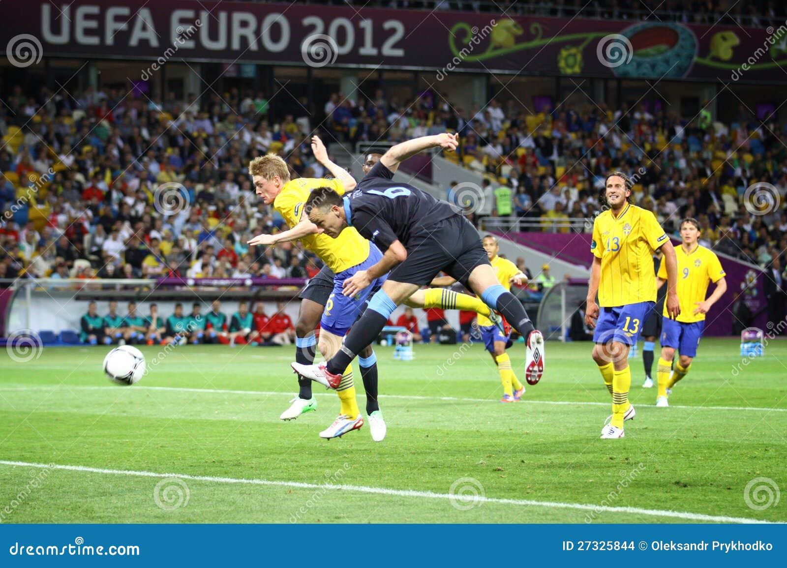 Het spel Zweden van 2012 van de EURO van UEFA versus Engeland