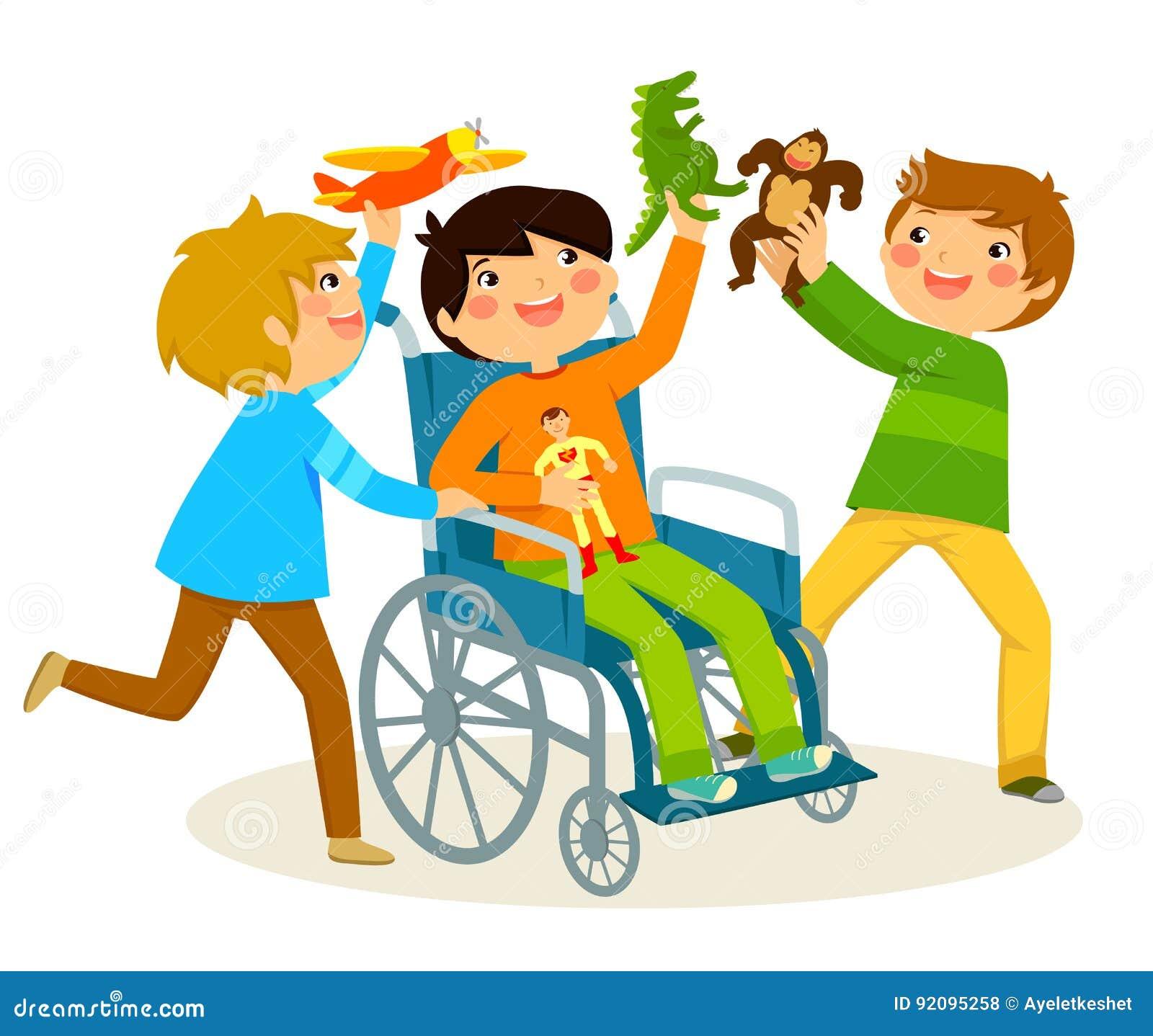 Het spelen in een rolstoel