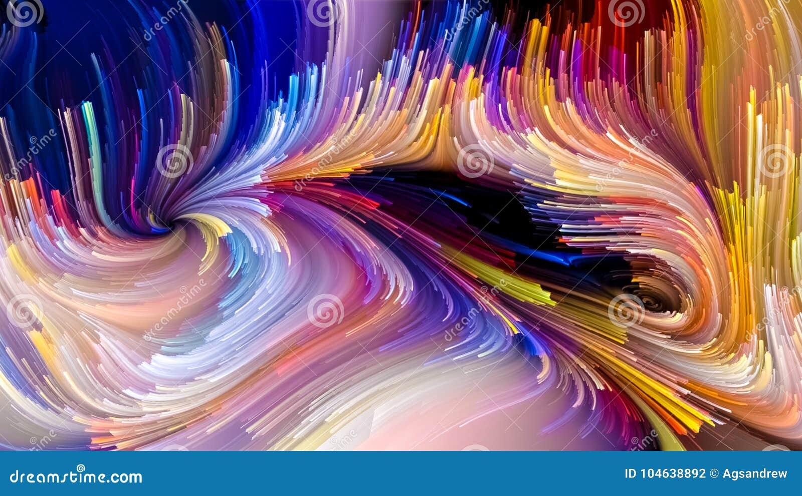 Download Het Spreken Van Vloeibare Kleur Stock Illustratie - Illustratie bestaande uit desktop, beweging: 104638892