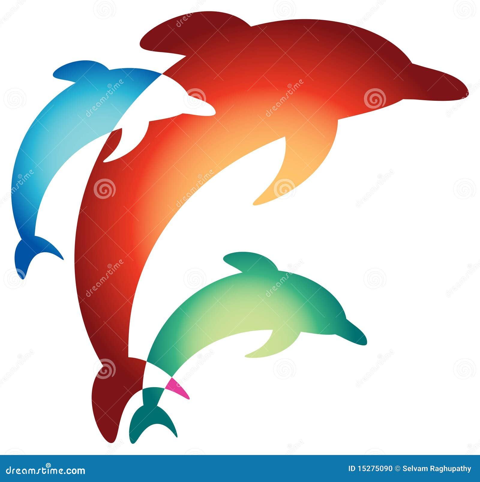 Het springen dolfijnen