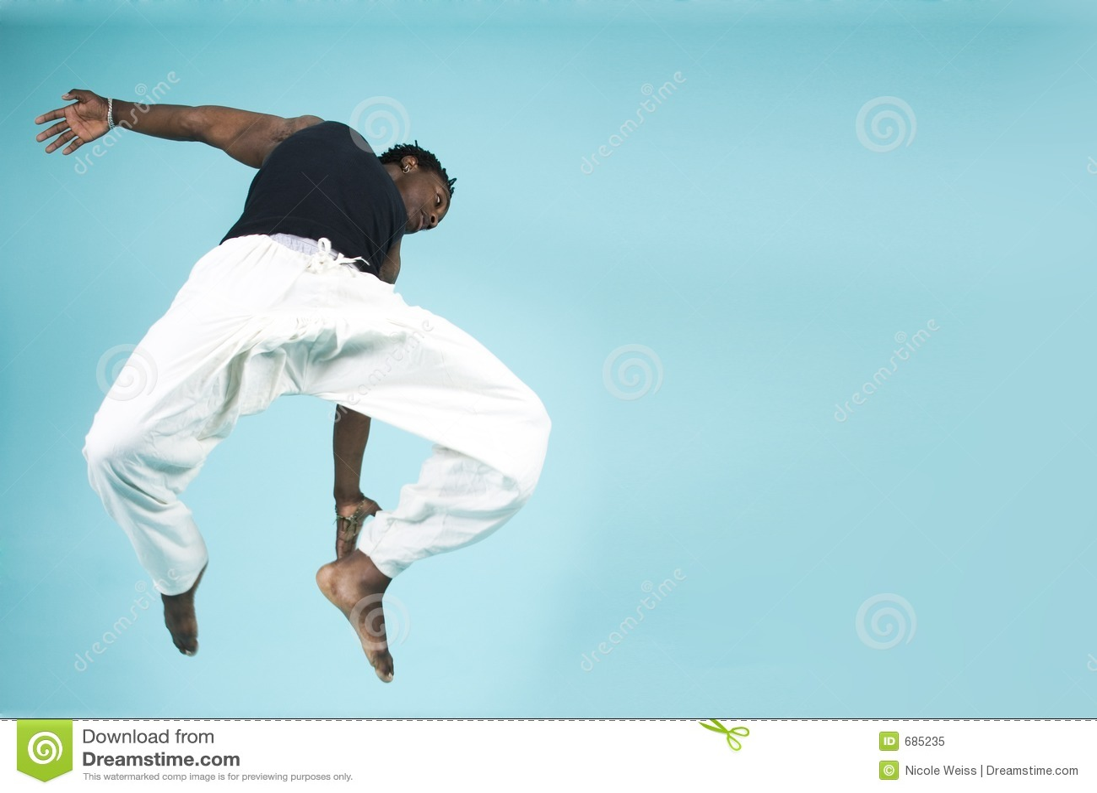Het springen door de lucht