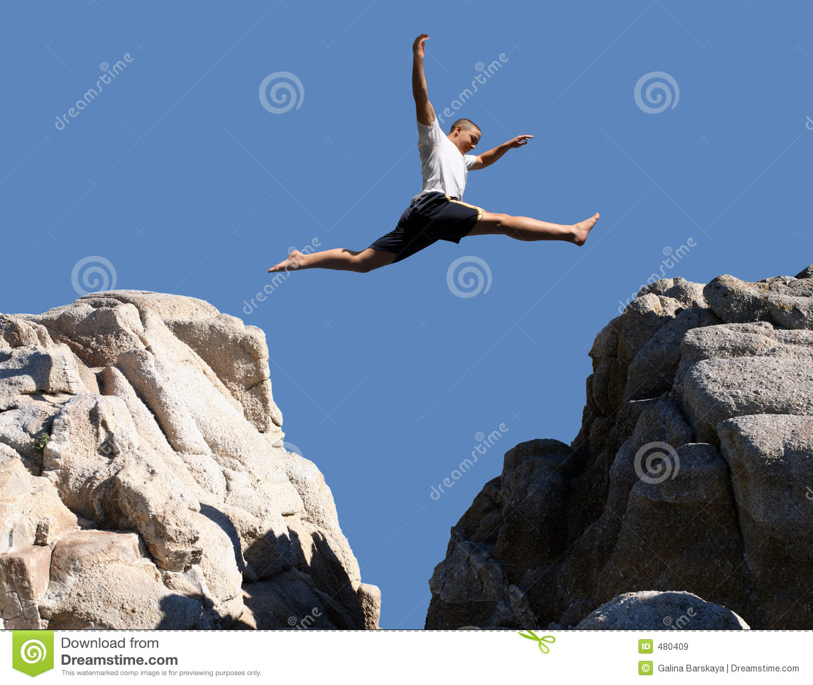 Het springen van de jongen