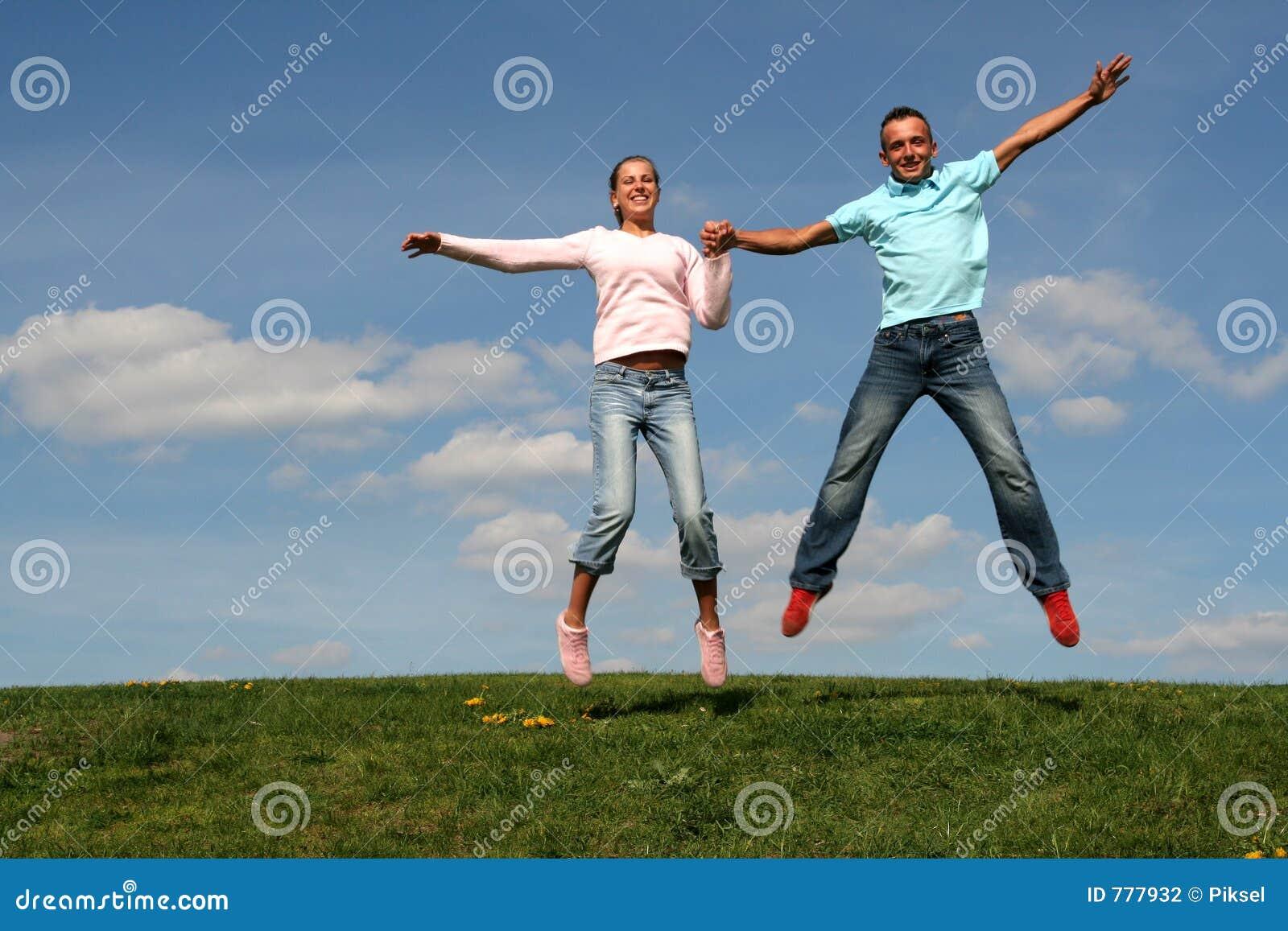 Het springen van het paar