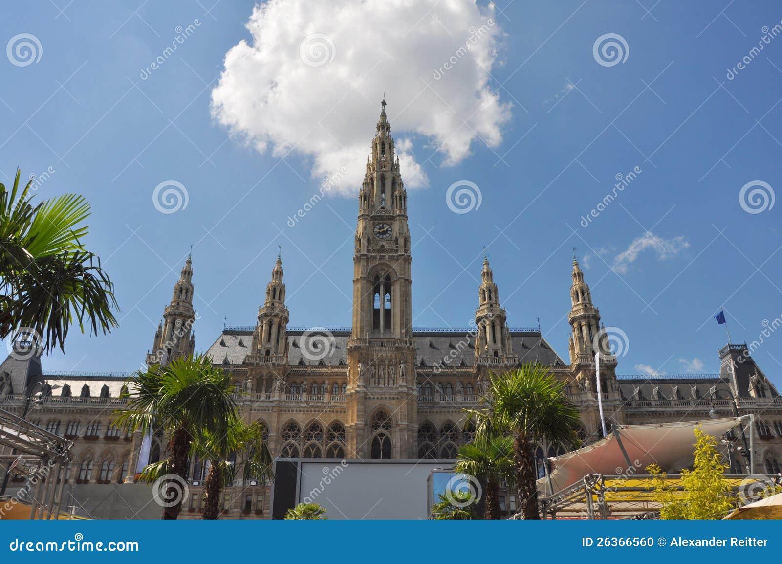 Het stadhuis van Wenen, Oostenrijk