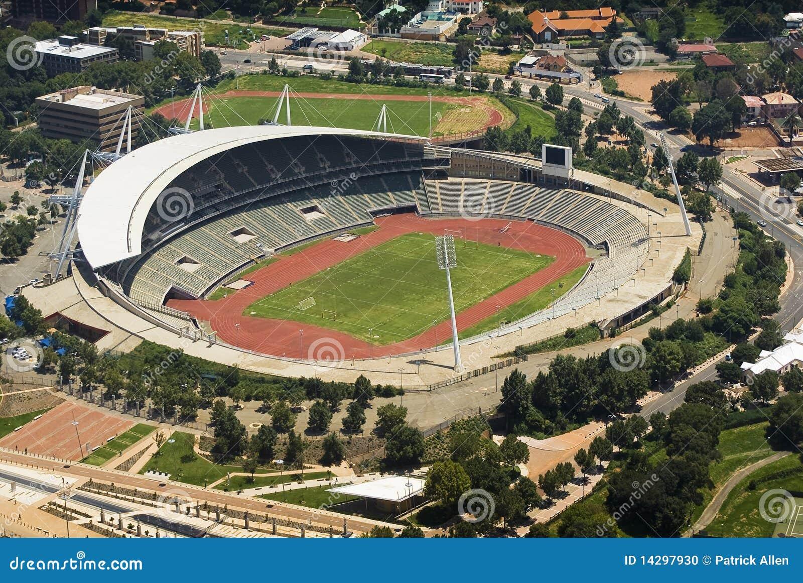 Het Stadion van Johannesburg - de Mening van het Oog van Vogels