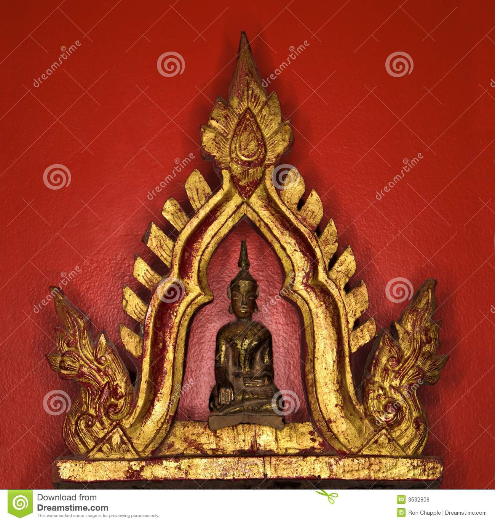 Het standbeeld van Boedha.