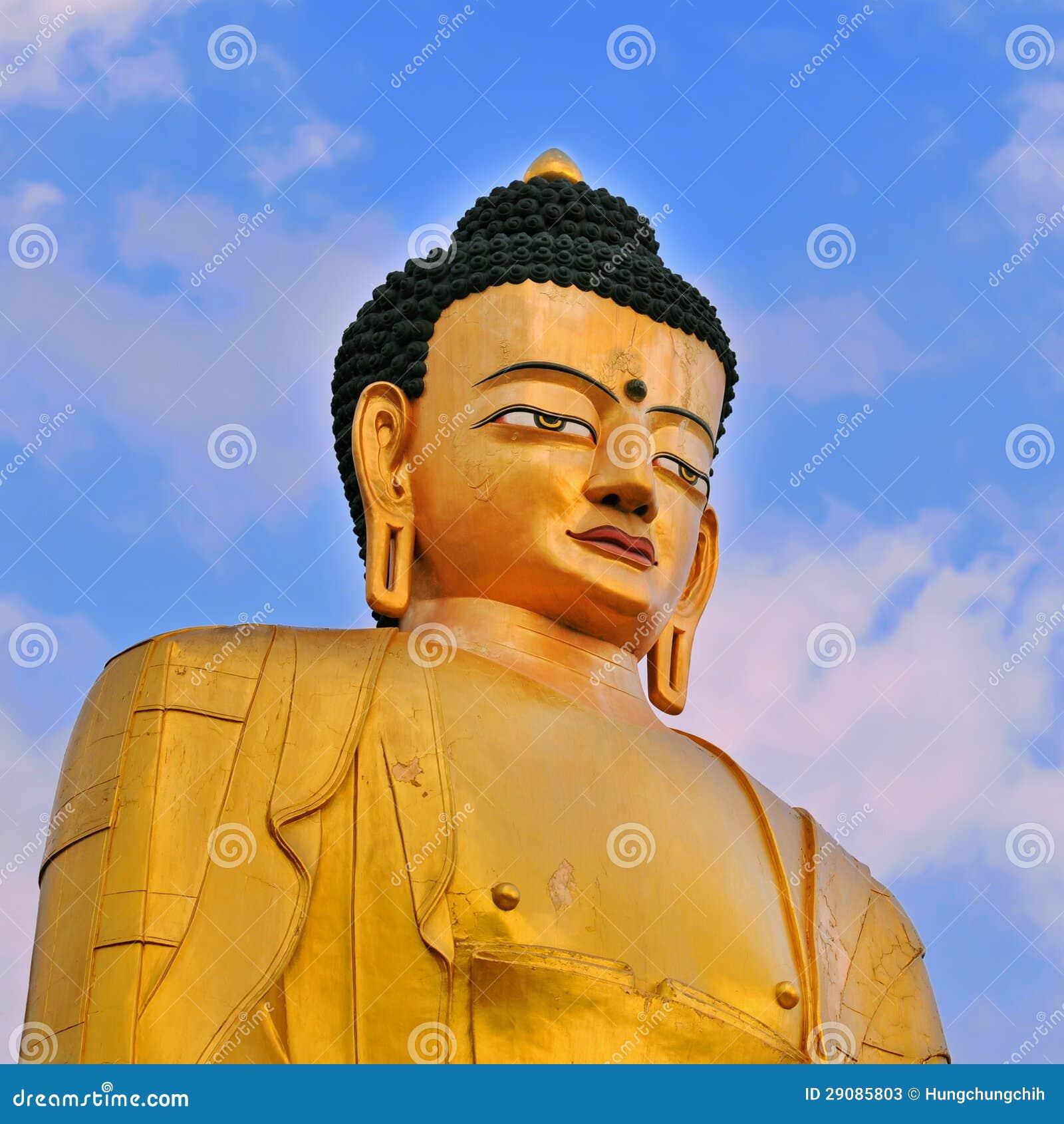 Het standbeeld van Boedha van Sakyamuni Boedha