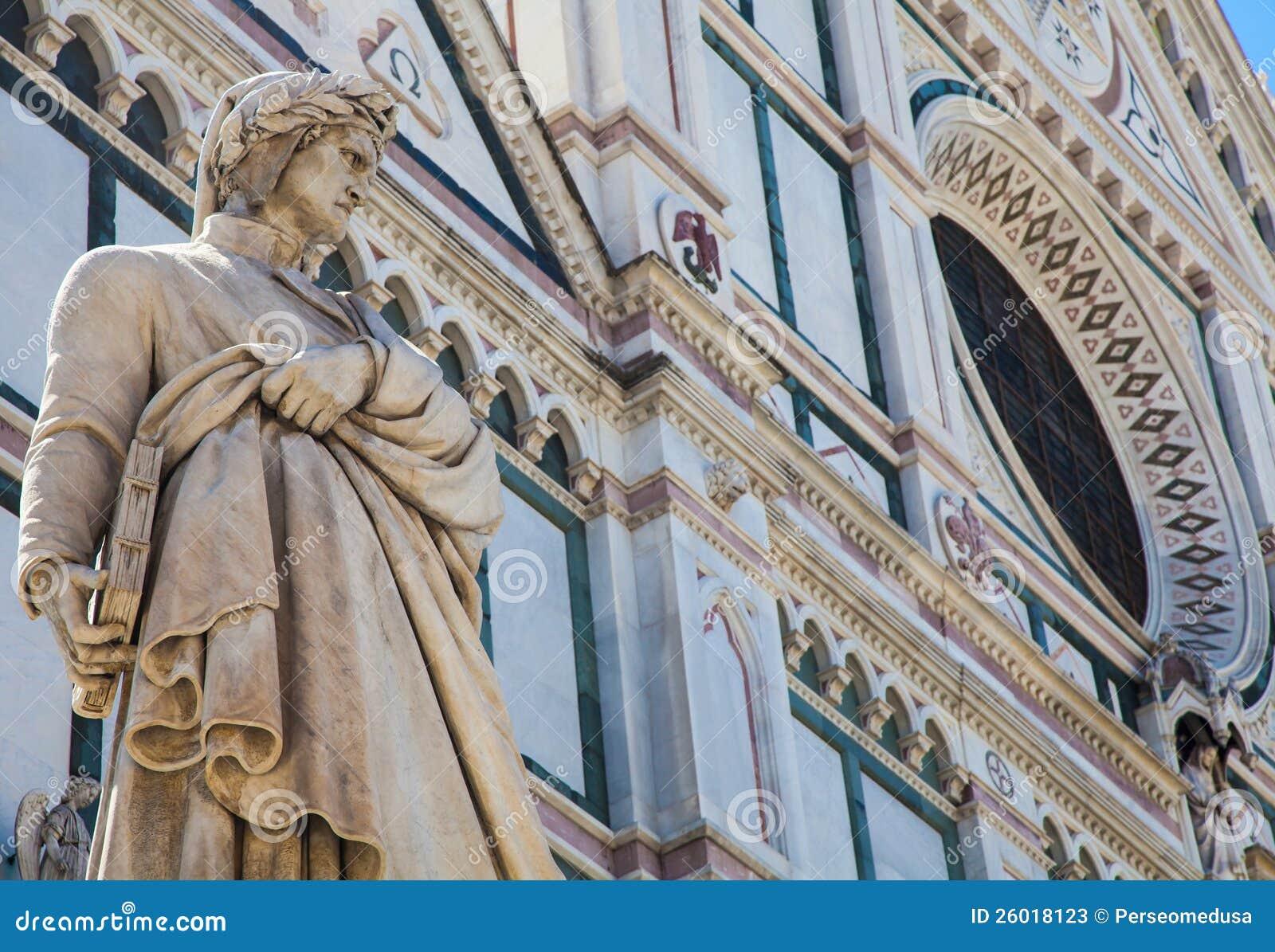 Het standbeeld van Dante