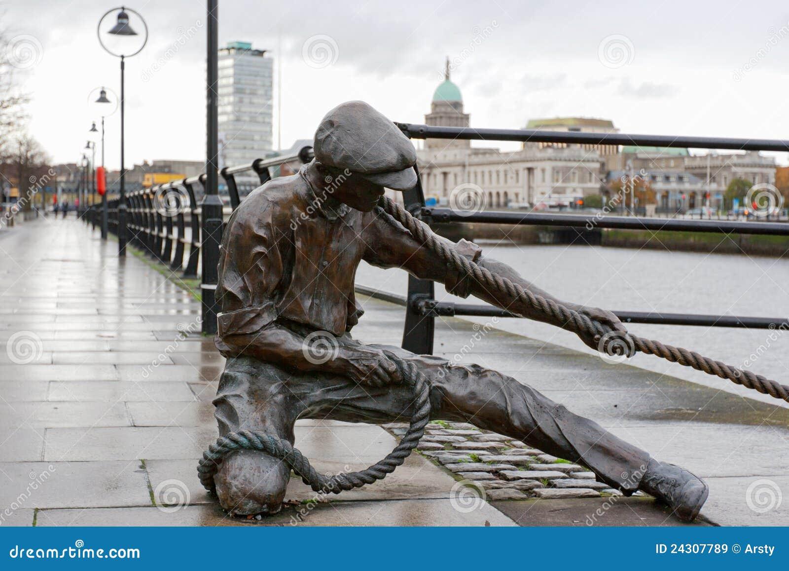 Het standbeeld van de Grensrechter. Dublin, Ierland