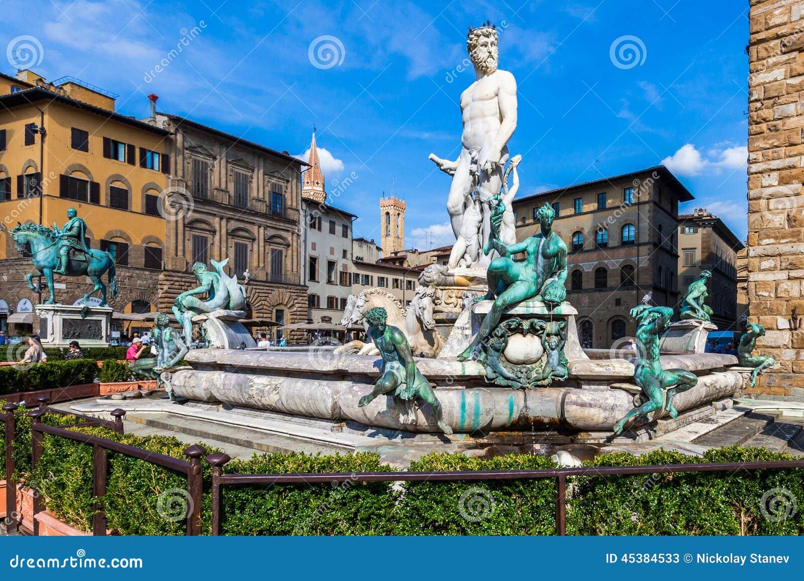 Het Standbeeld van Poseidon in Florence