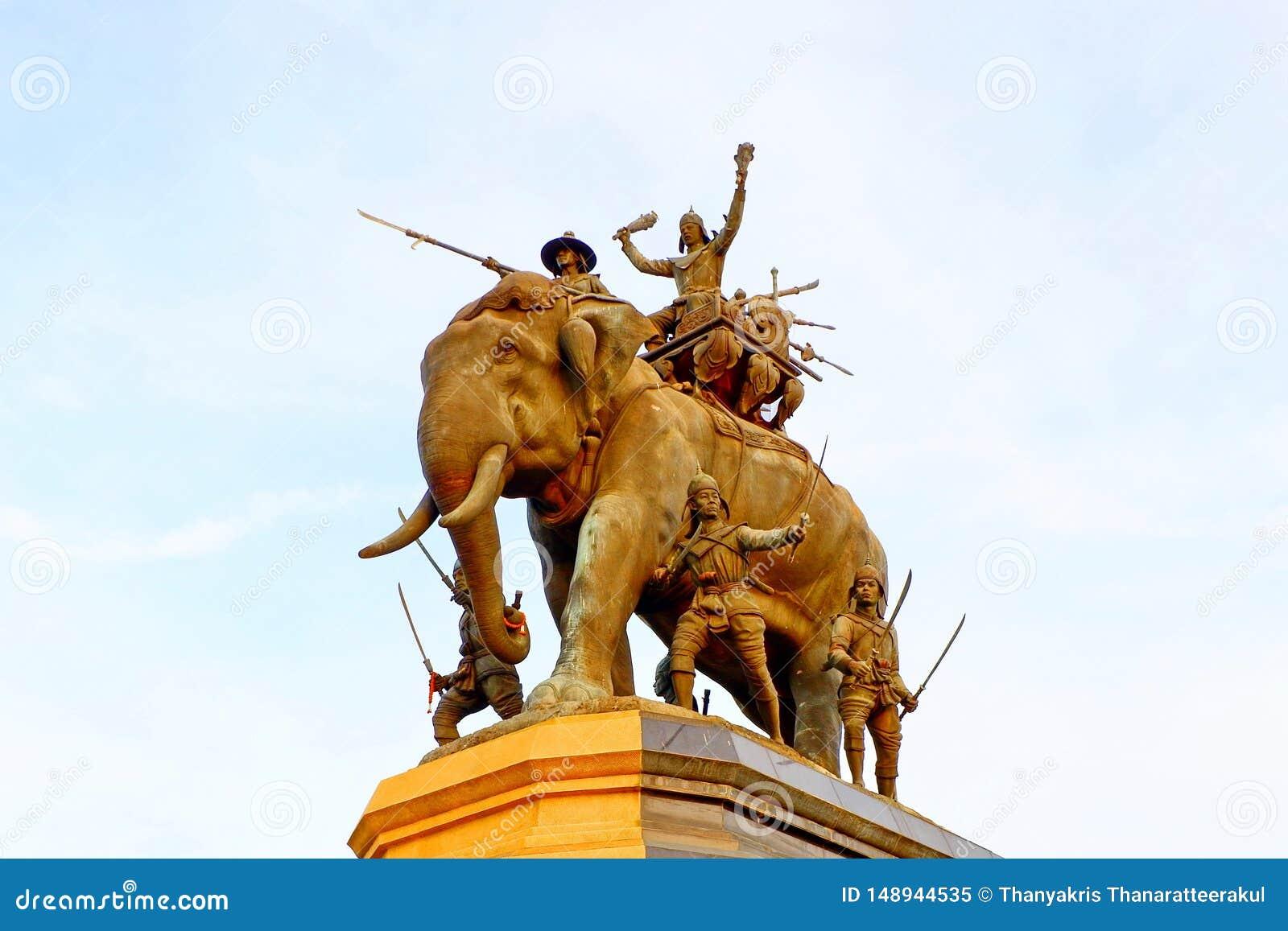 Het standbeeld van Thaise Koning, maakt toekomstige generaties het goed herinneren