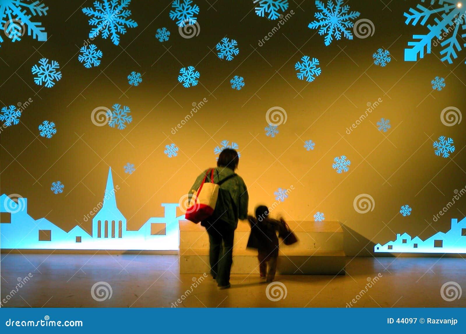 Download Het Stappen In De Magische Wereld Stock Afbeelding - Afbeelding bestaande uit kind, kerstmis: 44097