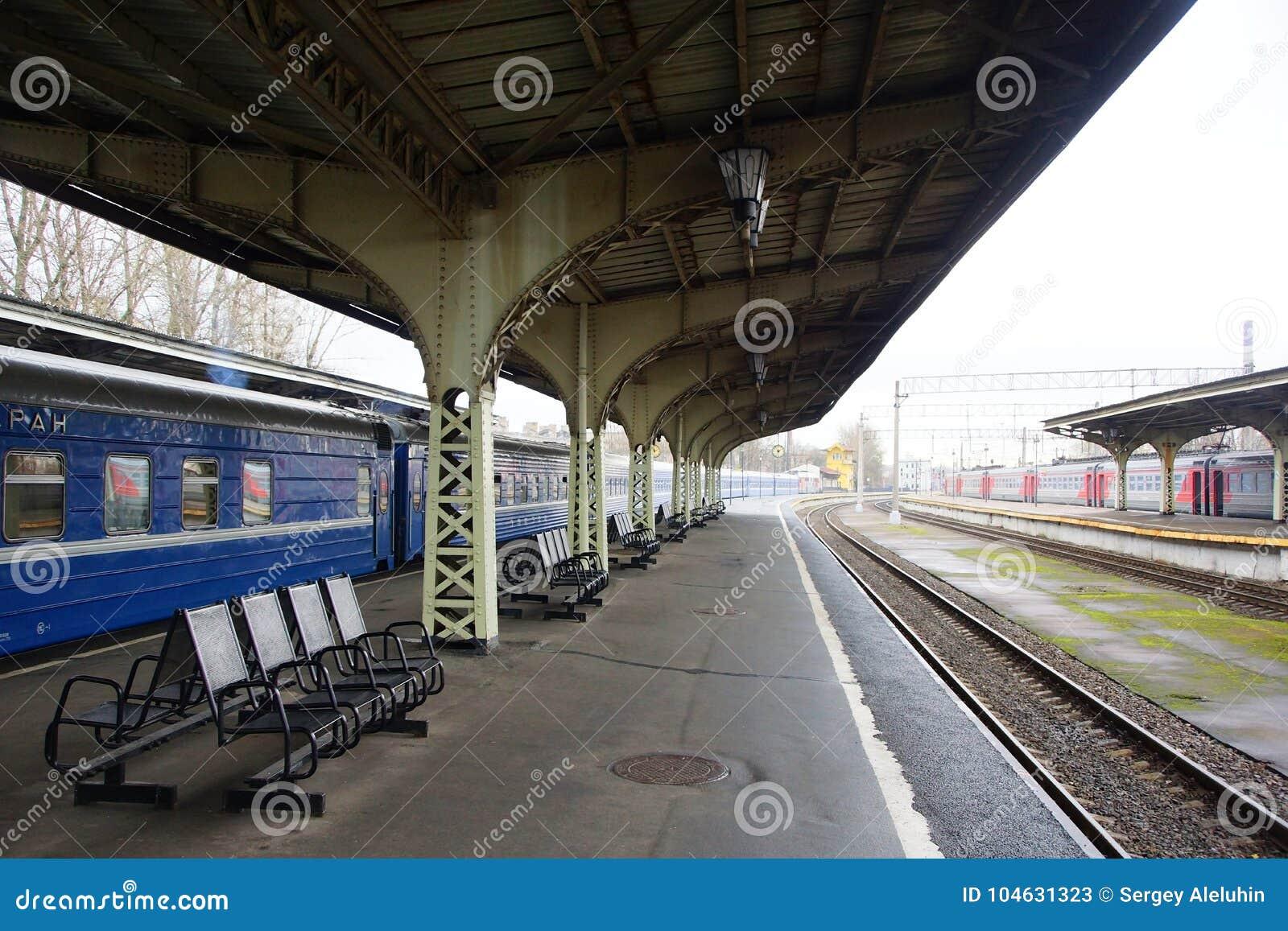 Download Het Station Van Vitebsk In St. Petersburg Redactionele Stock Foto - Afbeelding bestaande uit gang, ochtend: 104631323