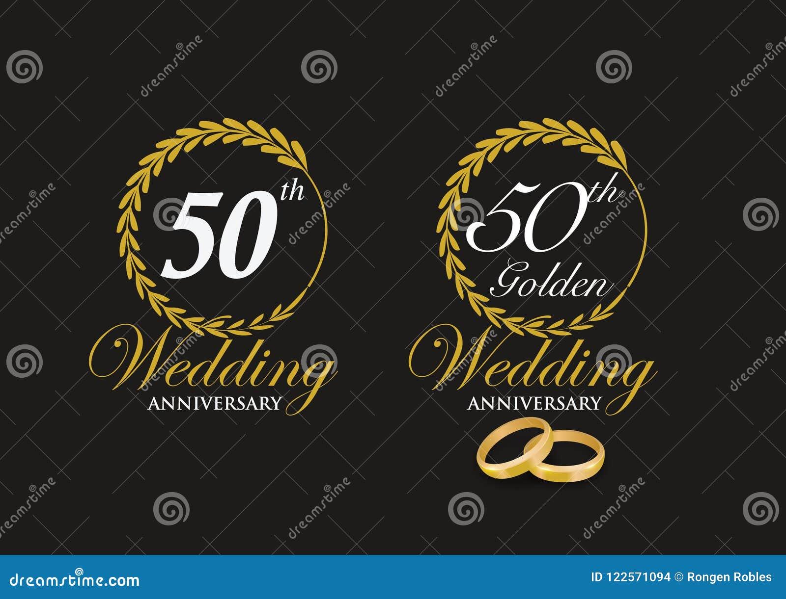 Het 50ste Embleem van de Gouden bruiloftverjaardag