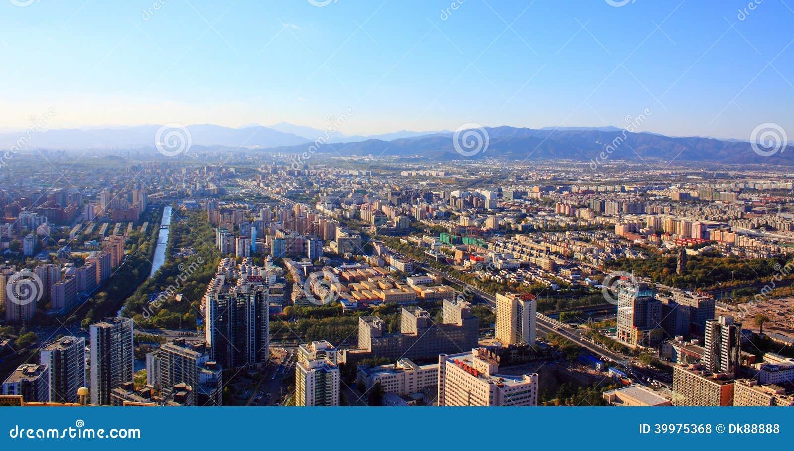 Het stedelijke landschap van Peking
