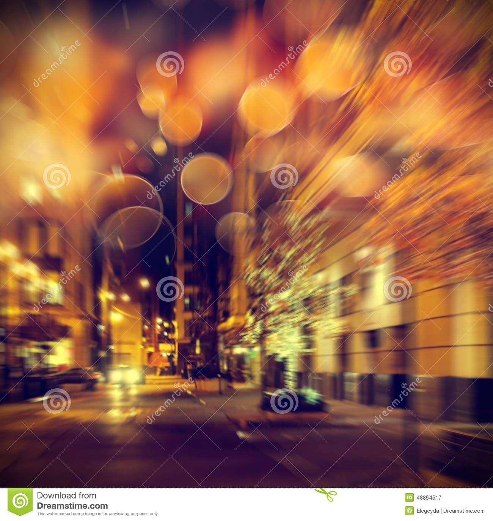 Het stedelijke leven bij nacht
