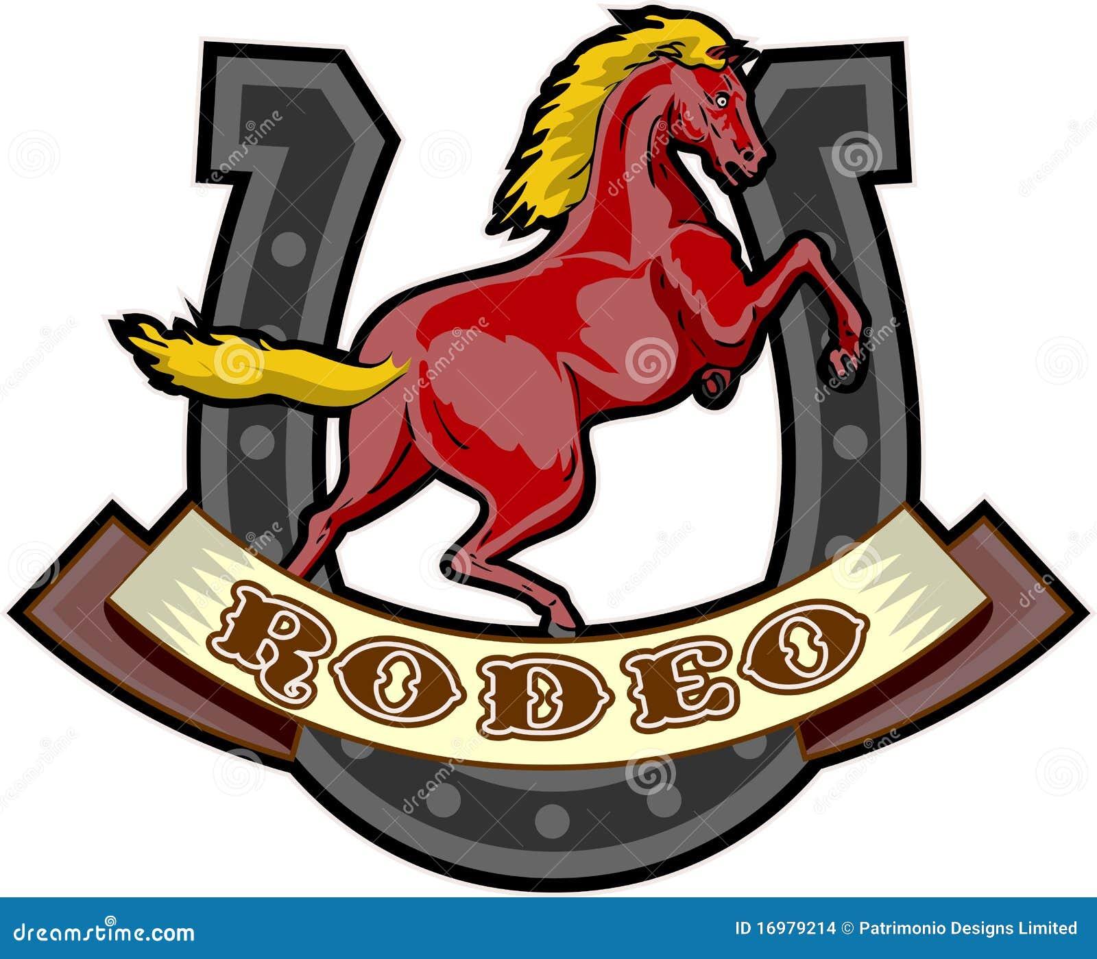 Het steigeren van de rodeo paardhoef