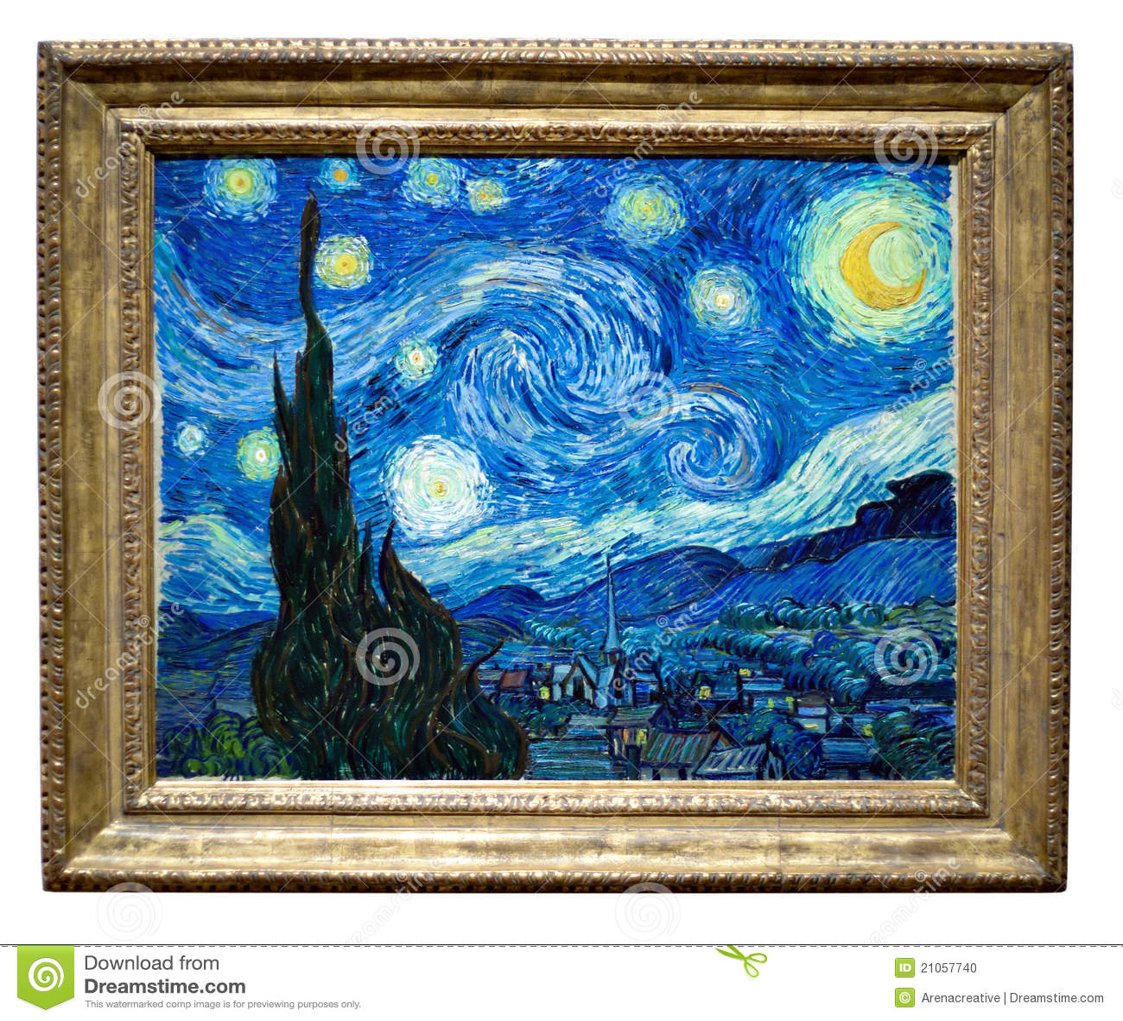 Het sterrige Schilderen van de Nacht door Vincent
