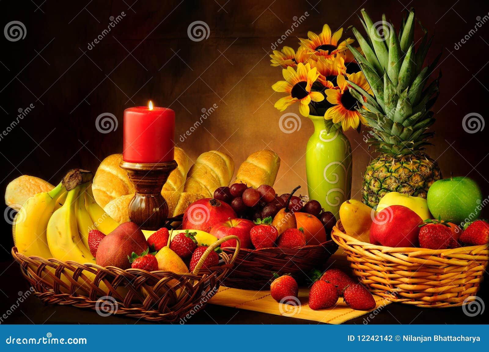 Het stilleven van vruchten