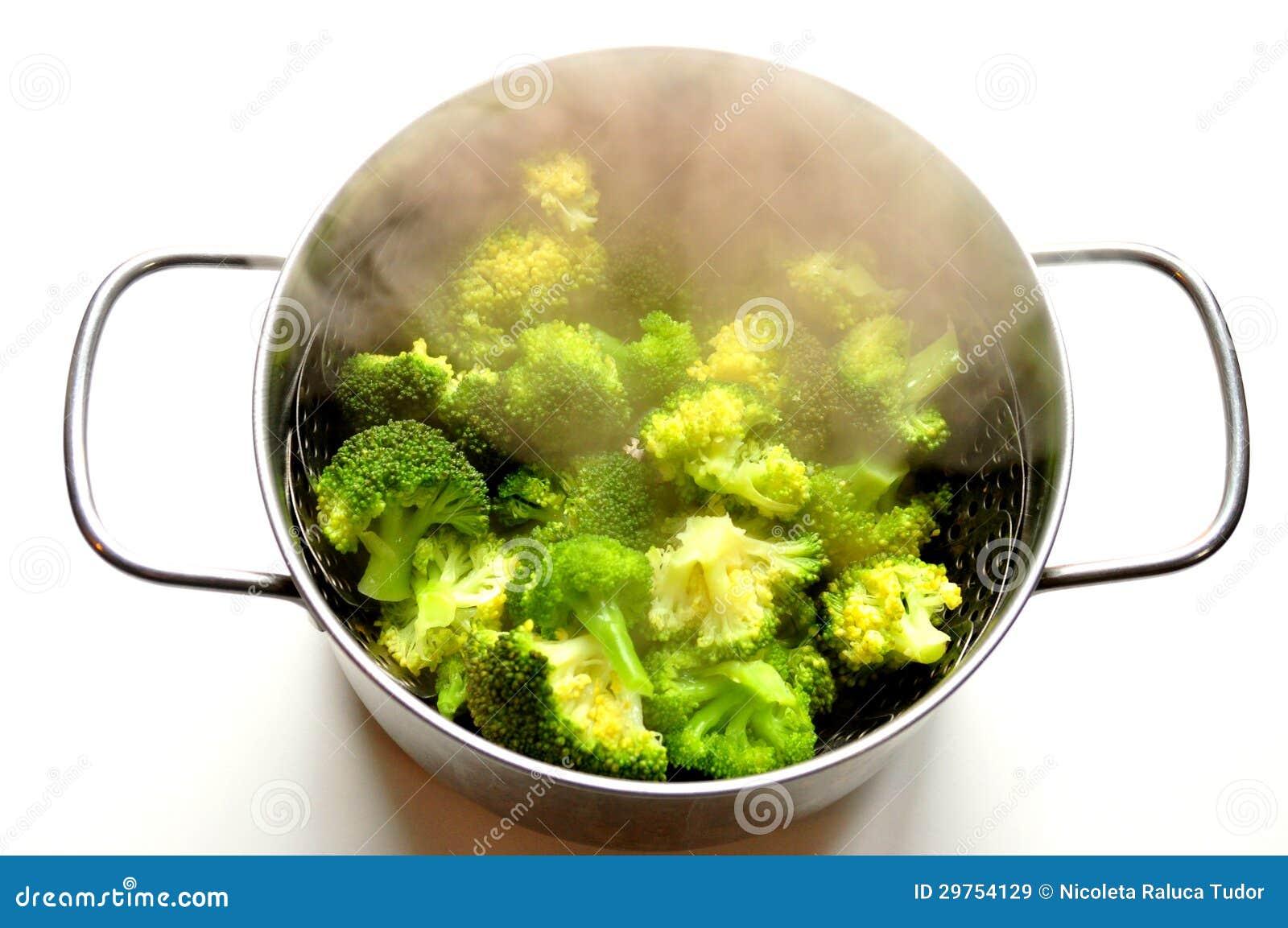 broccoli stomen in pan