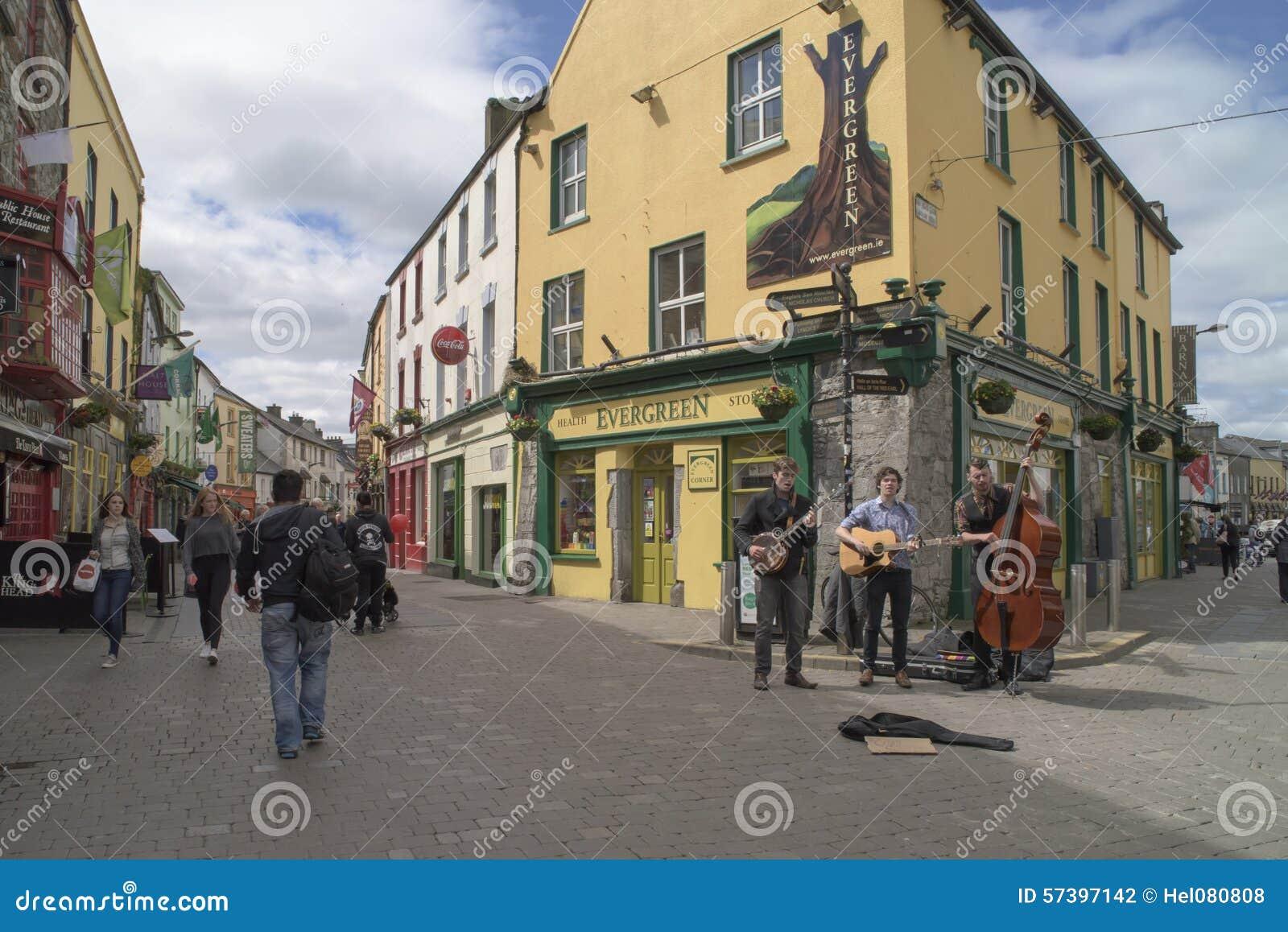 Het straatleven Galway, Ierland