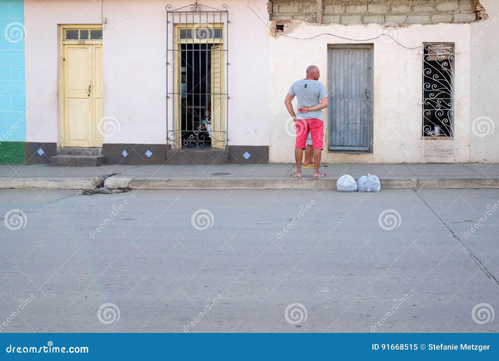 Het straatleven in Trinidad, Cuba