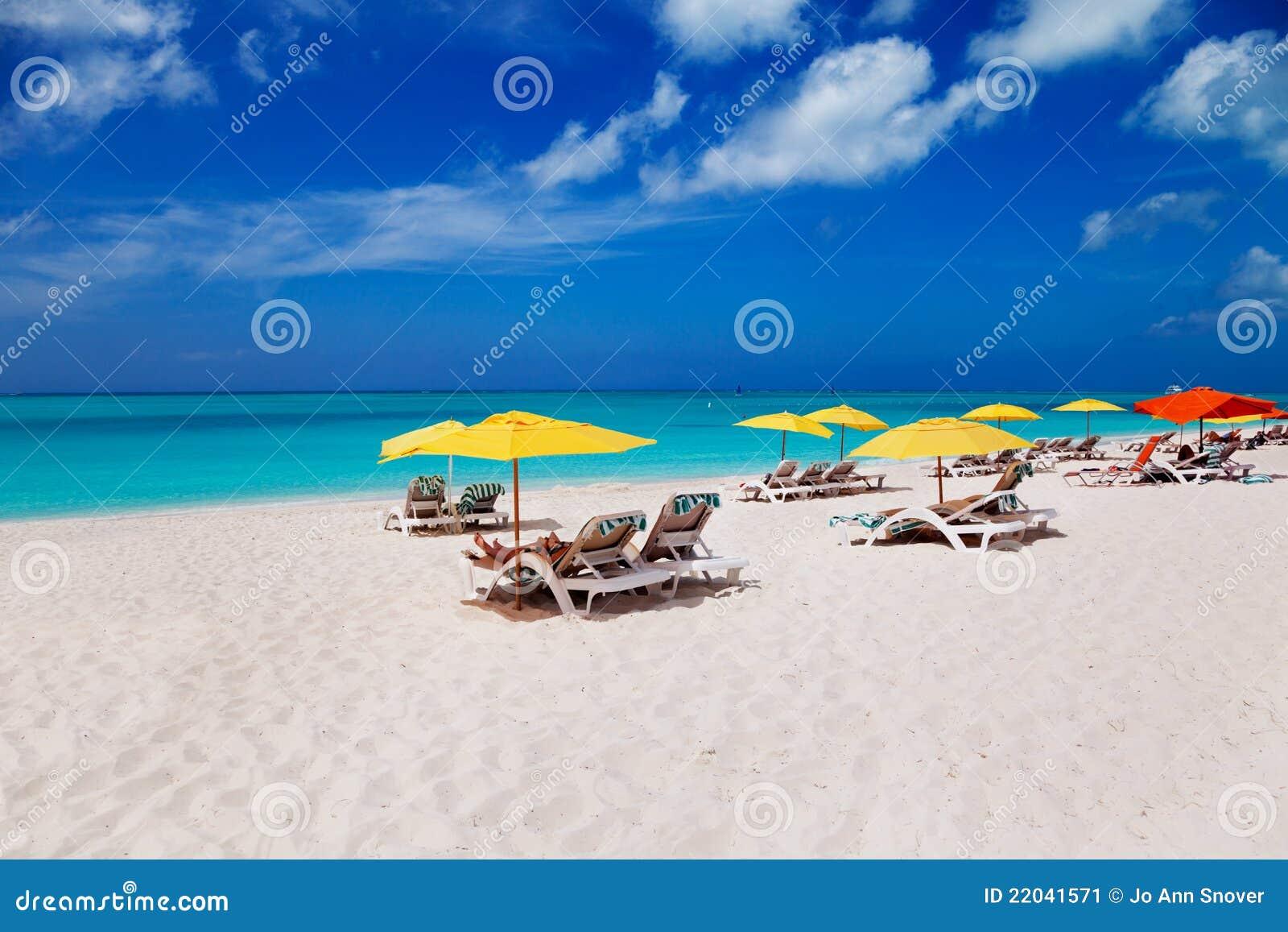 Het Strand, de Turken & Caicos van de Baai van de gunst