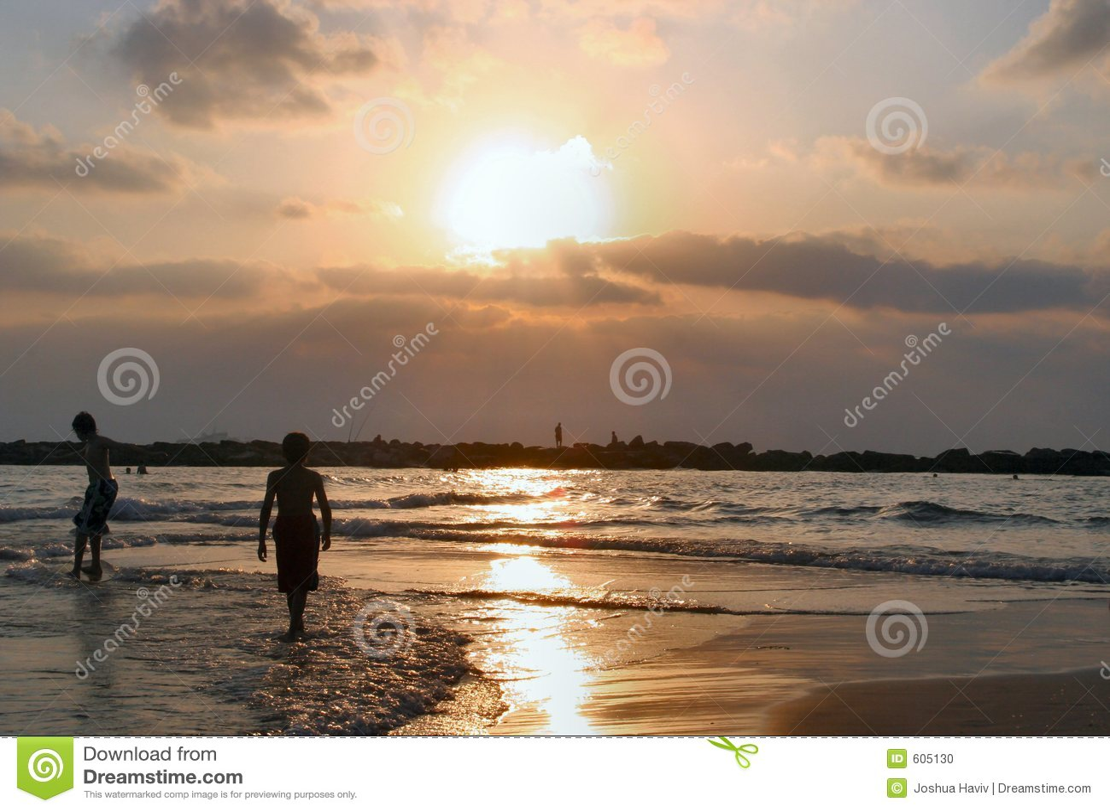 Het strand in Israël