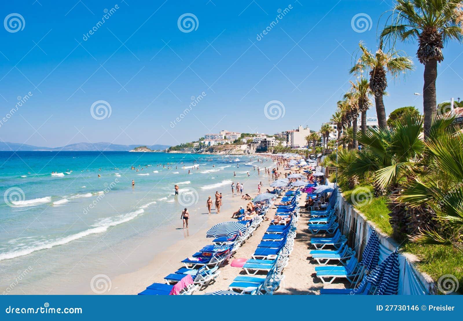 Het Strand van dames, Kusadasi, Turkije