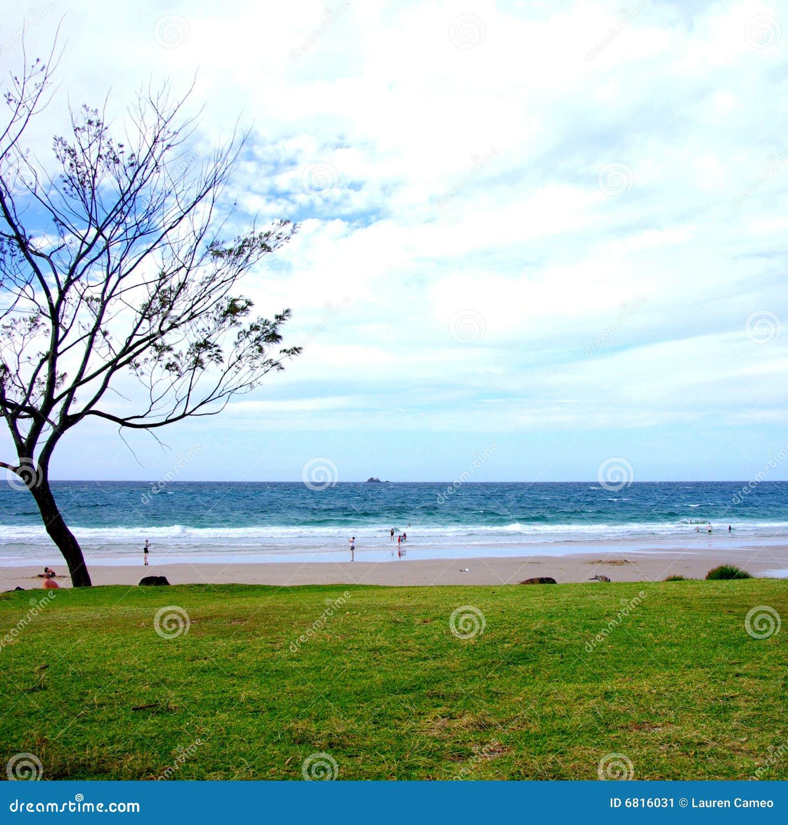 Het Strand van de Baai van Byron