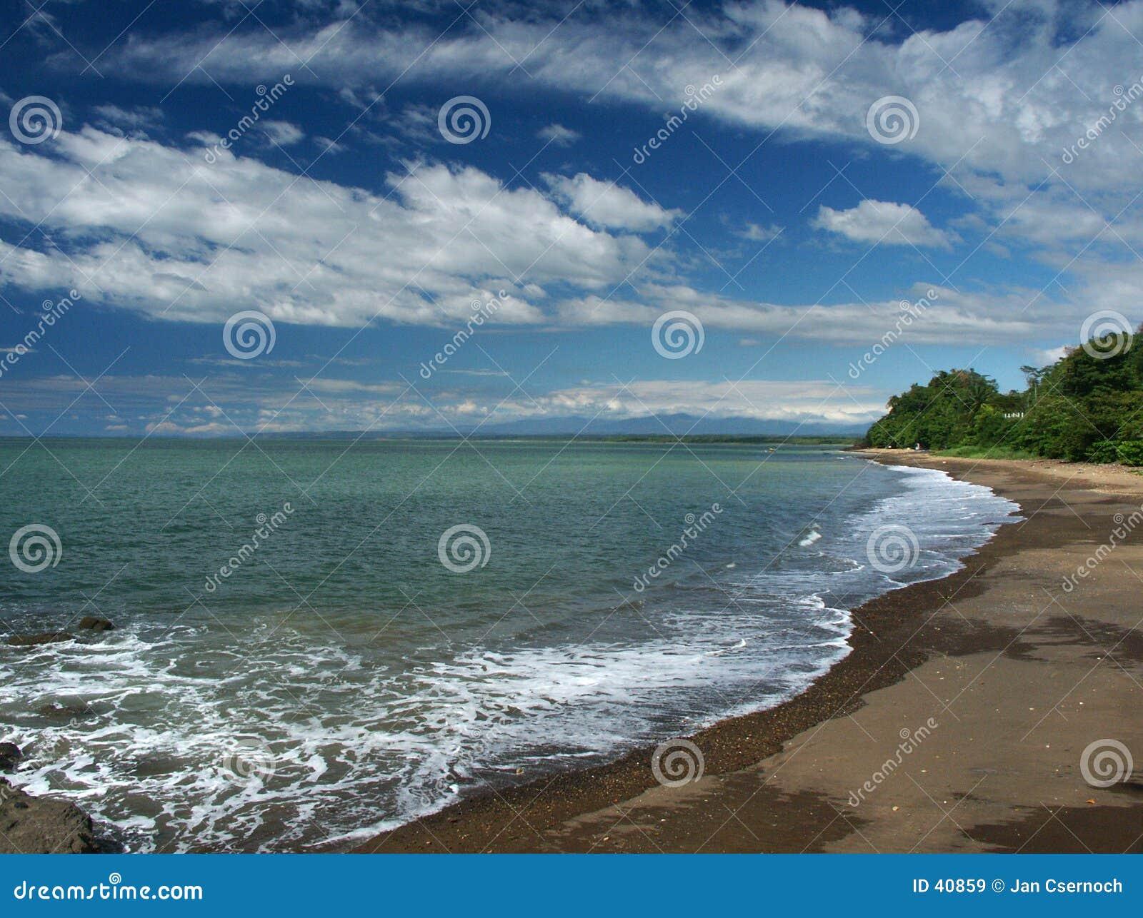 Het strand van de eb
