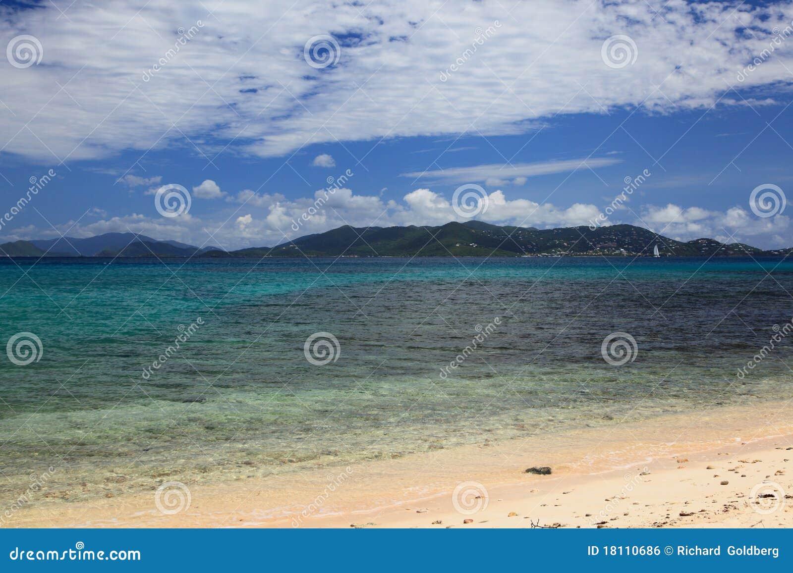 Het strand van de saffier