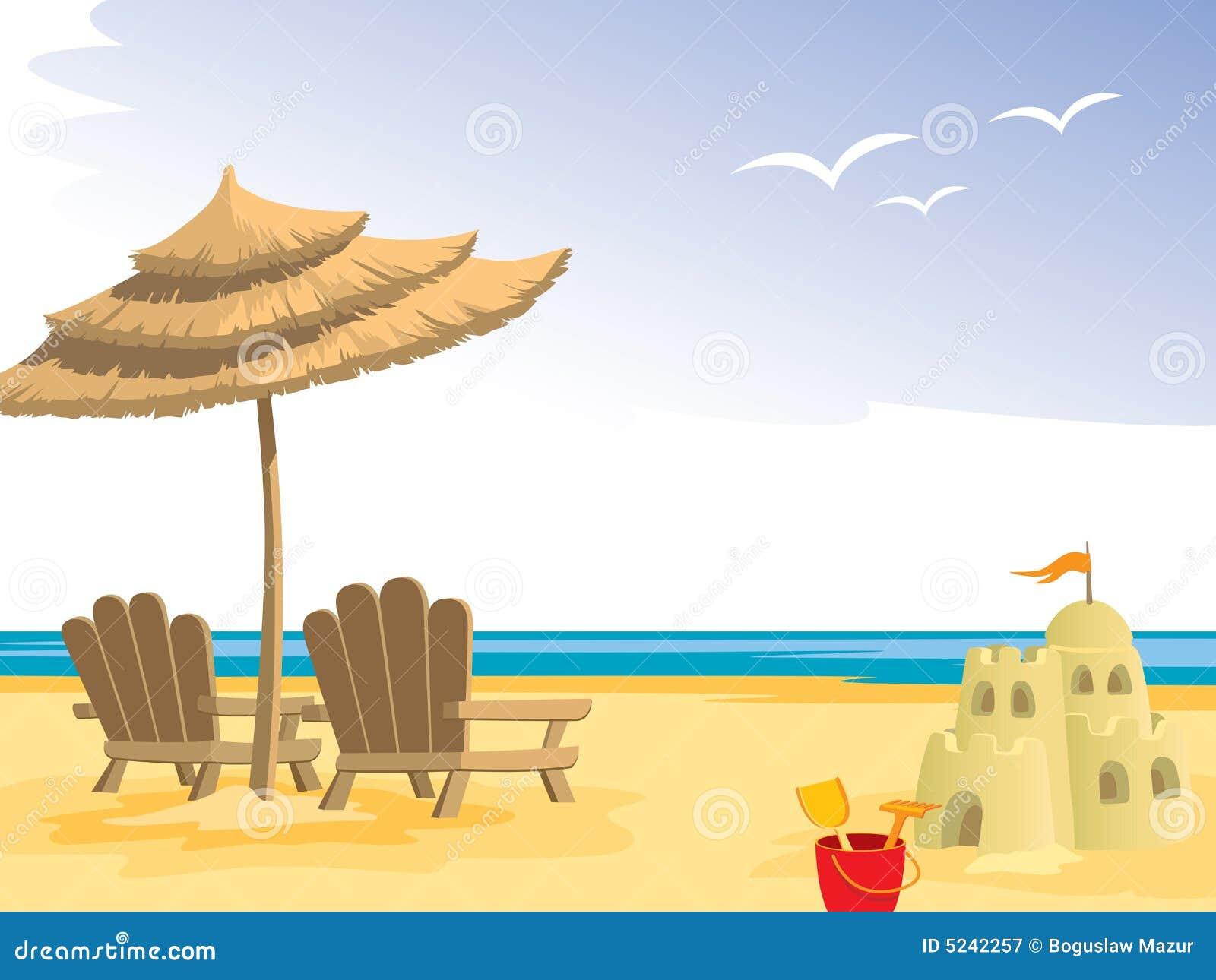 Het strand van de zomer