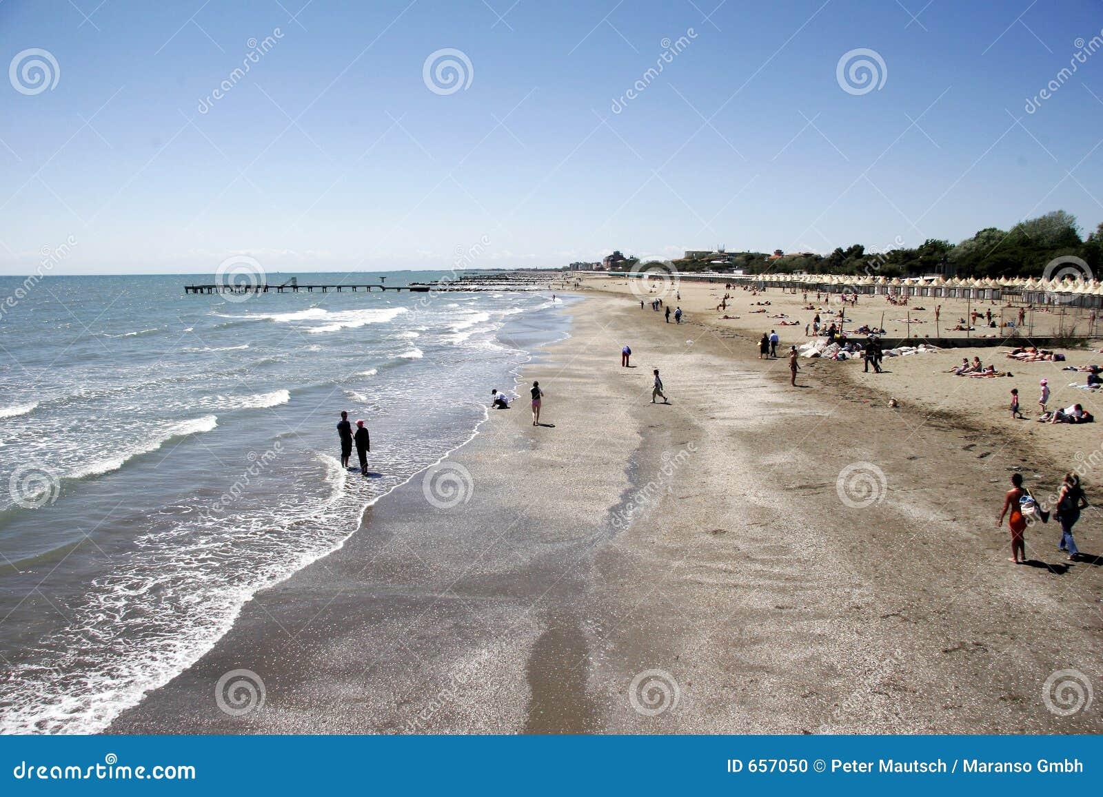 Het strand van Lido aan het zuiden