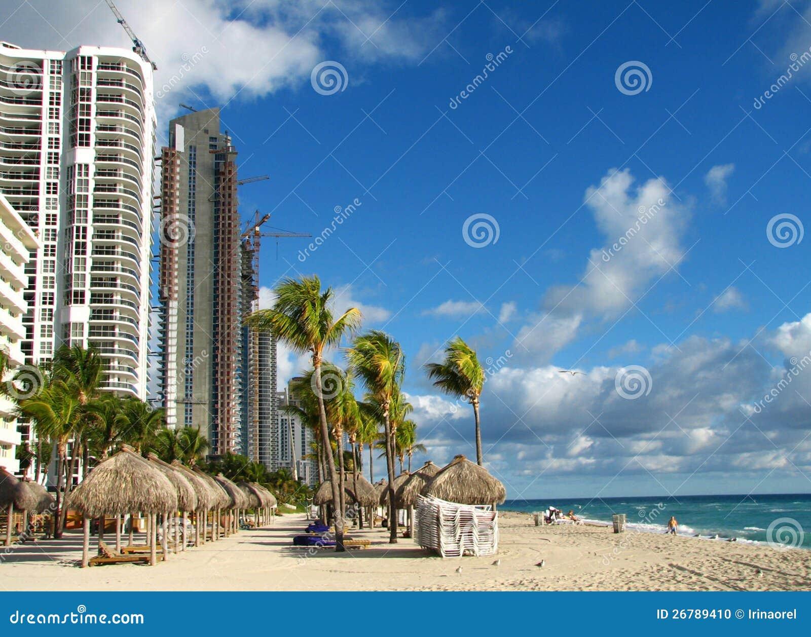 Het Strand van Miami in de winter