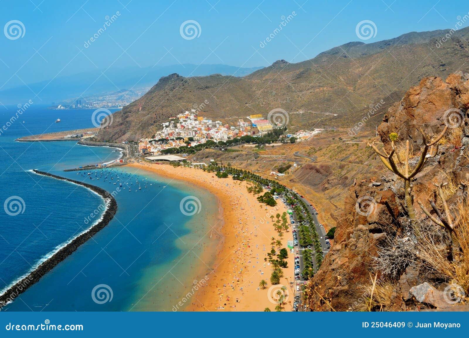 Het Strand van Teresitas in Tenerife, Canarische Eilanden, Spanje