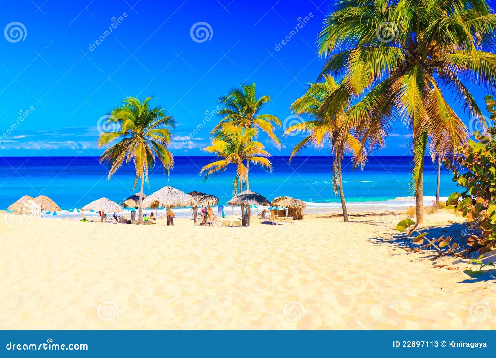 Het strand van Varadero in Cuba