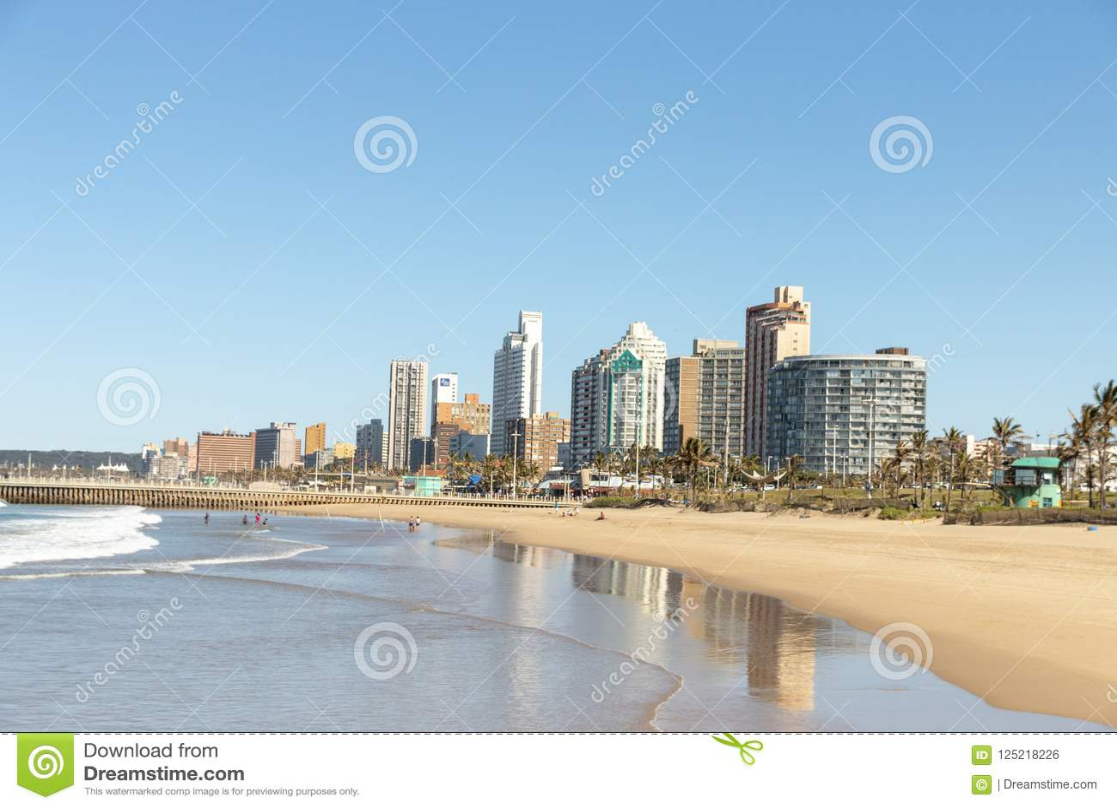 Het Strandvoorzijde van Durban