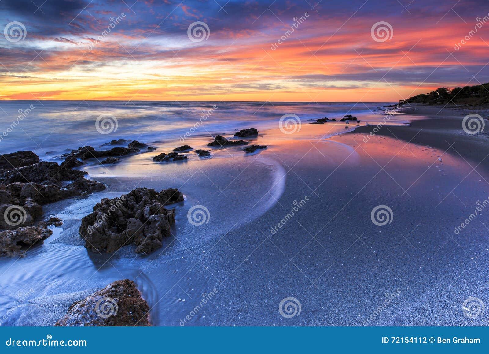 Het Strandzonsondergang van Florida
