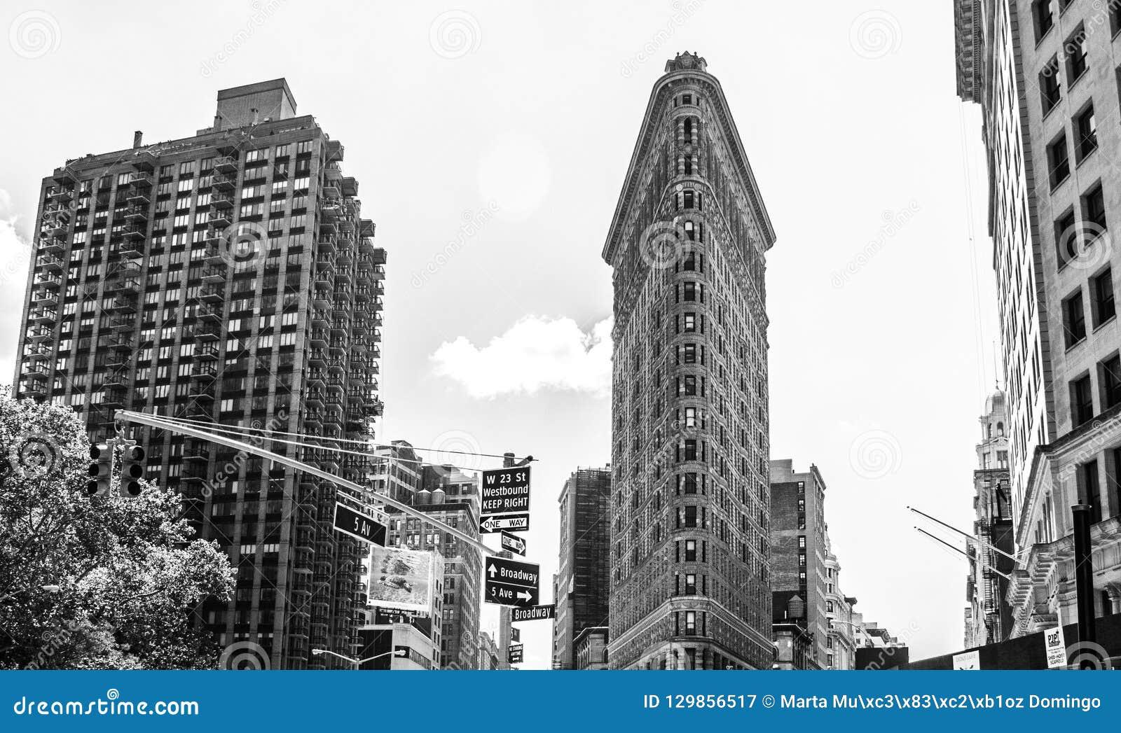 Het Strijkijzergebouw, de Stad van New York