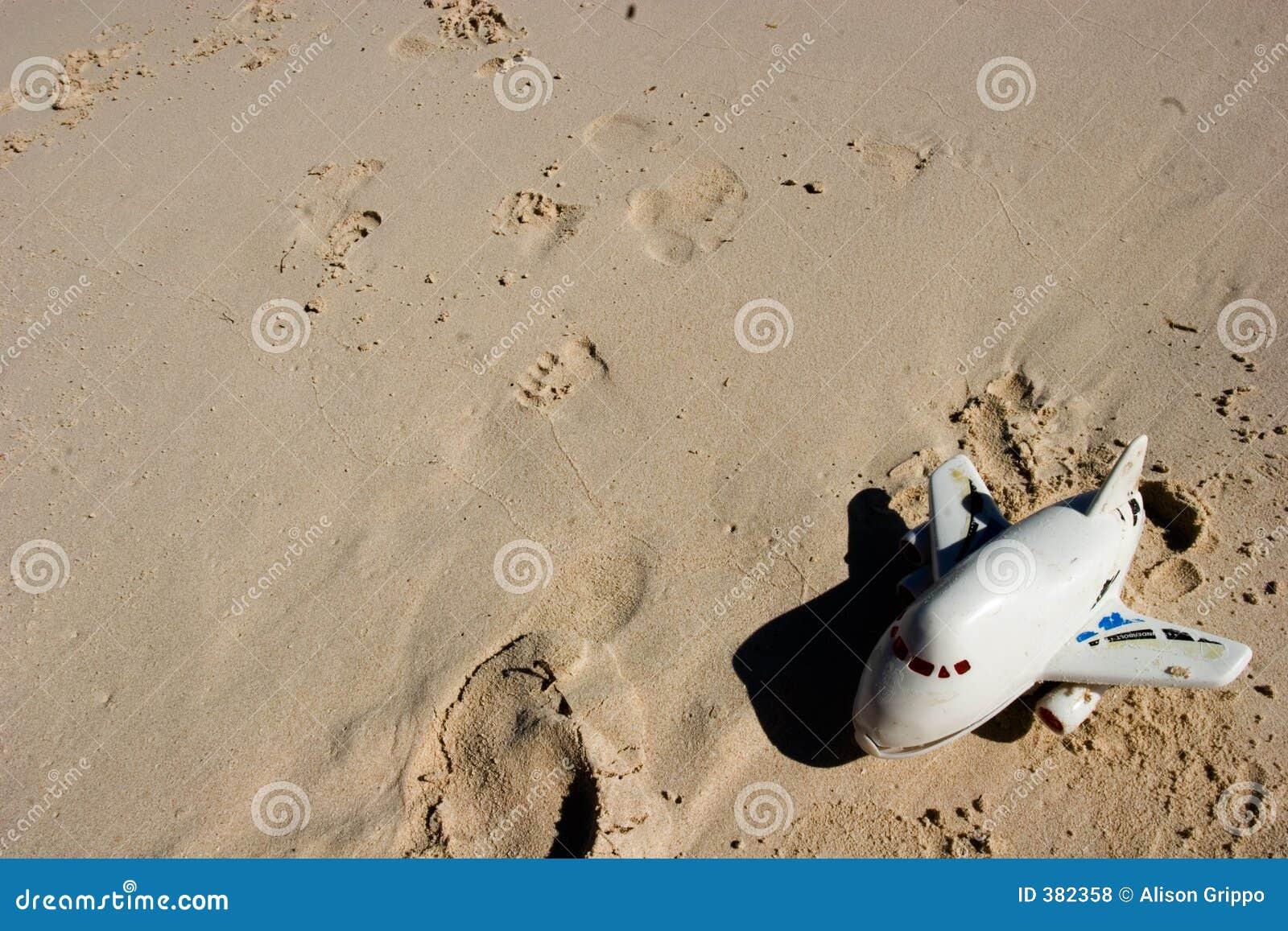 Het stuk speelgoed van Childs op strand