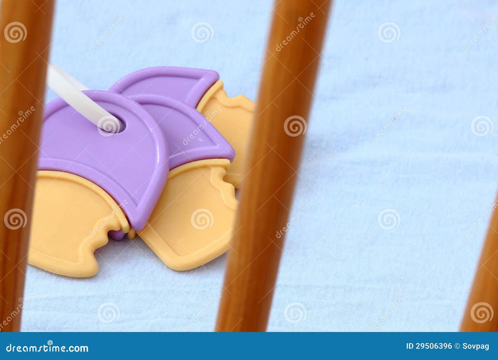 Het stuk speelgoed van de baby