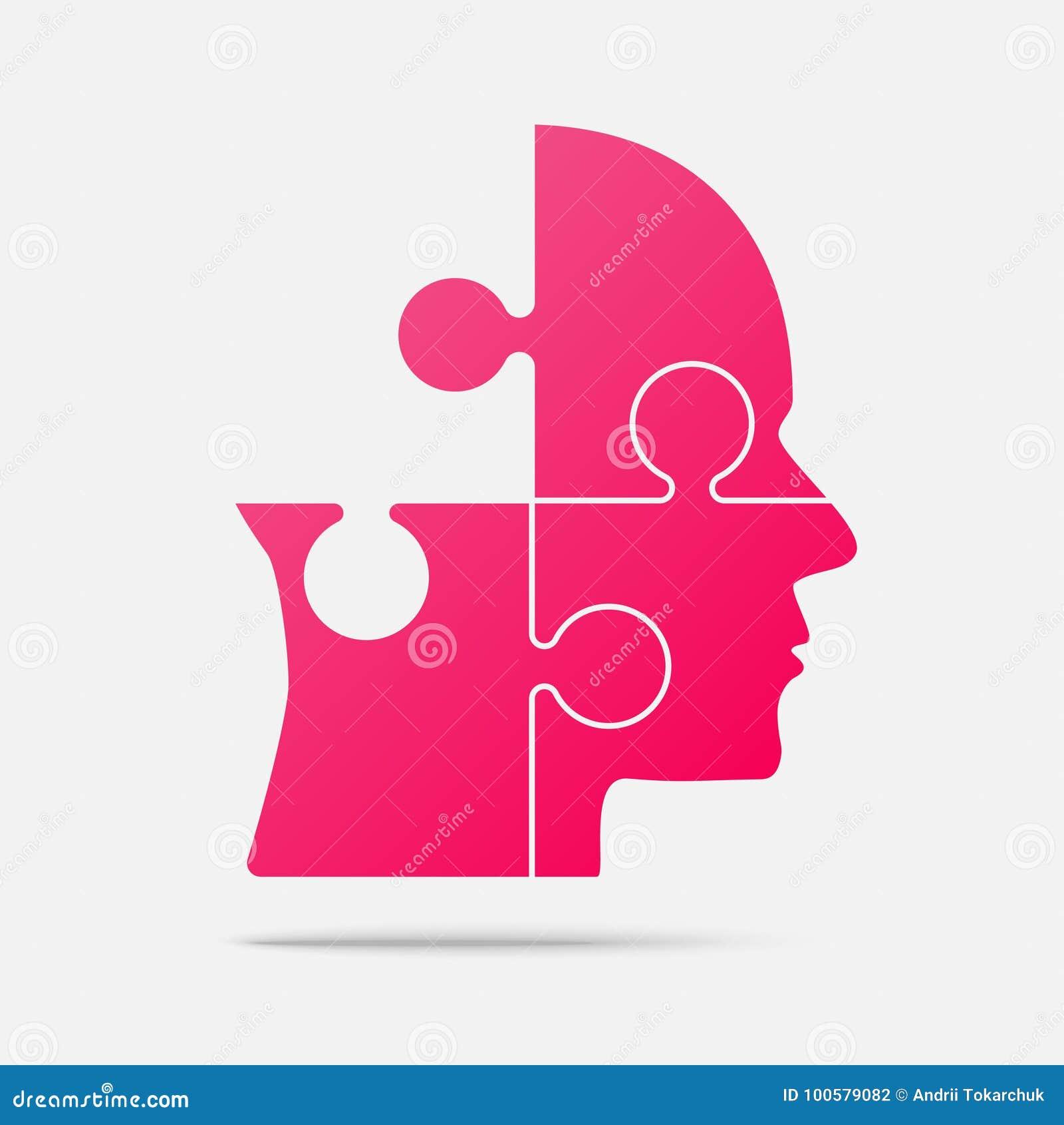 Het stukhoofden van het ontwerp roze raadsel vectorfiguurzaag vector illustratie afbeelding - Separateur van stuk ontwerp ...